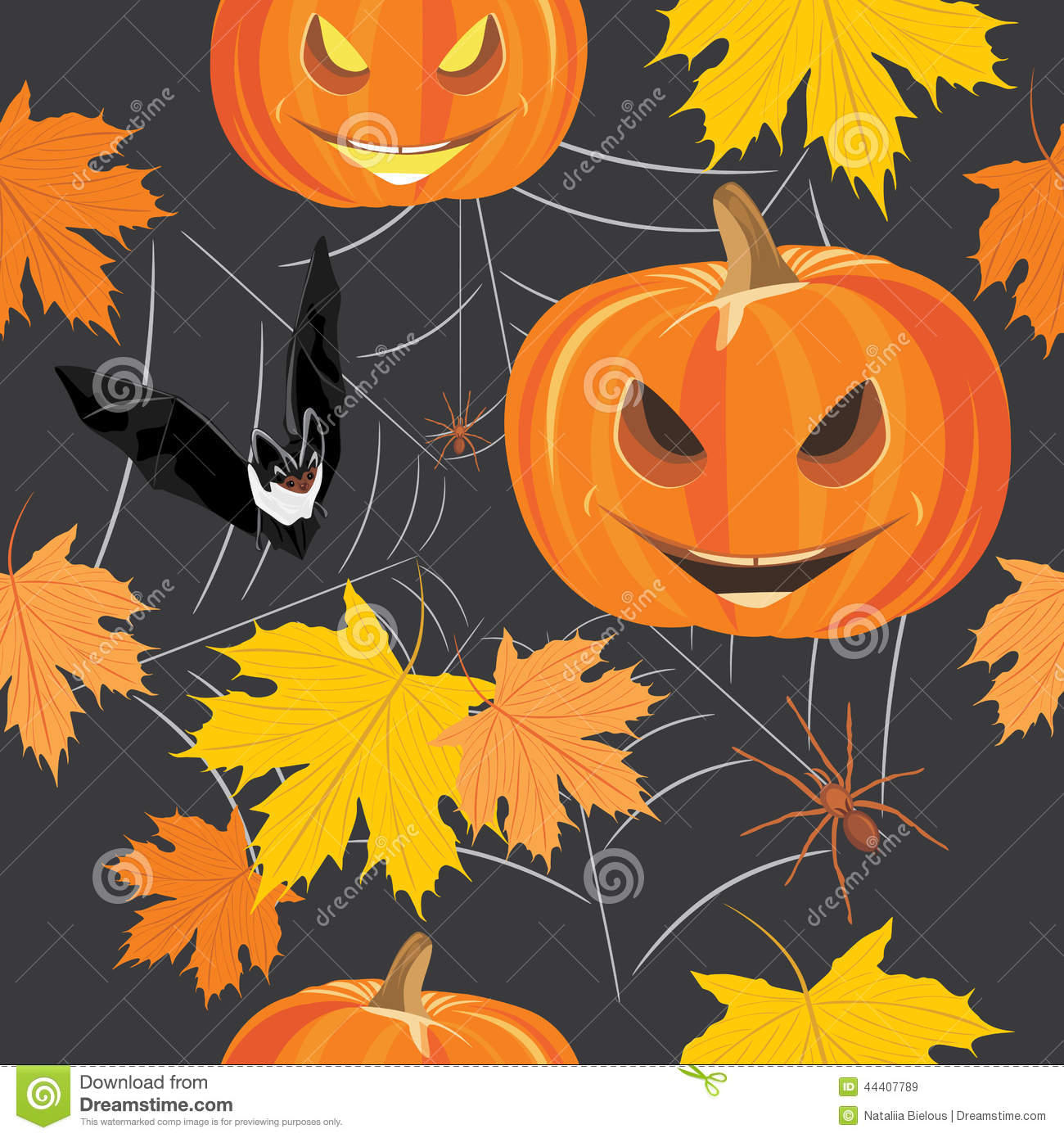 Happy Halloween. Seamless background for design
