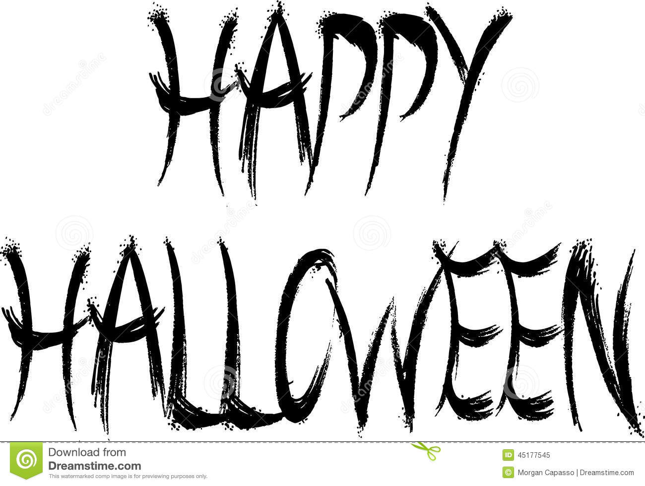 Happy Halloween Black And White Happy Halloween sign