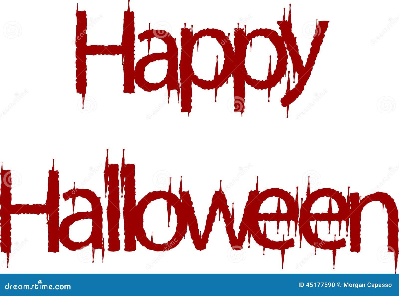 royalty free stock photo - Halloween Writing Font