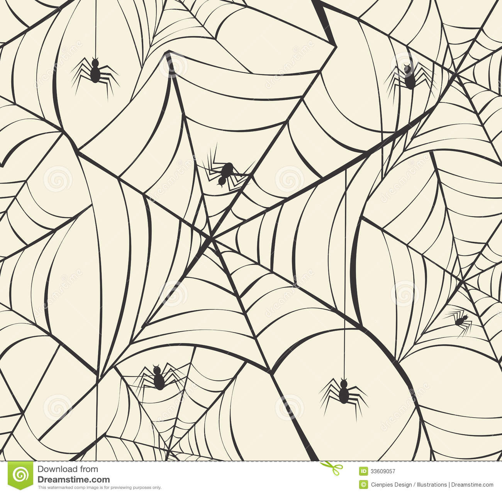 Happy Halloween spider webs seamless pattern background EPS10 fi
