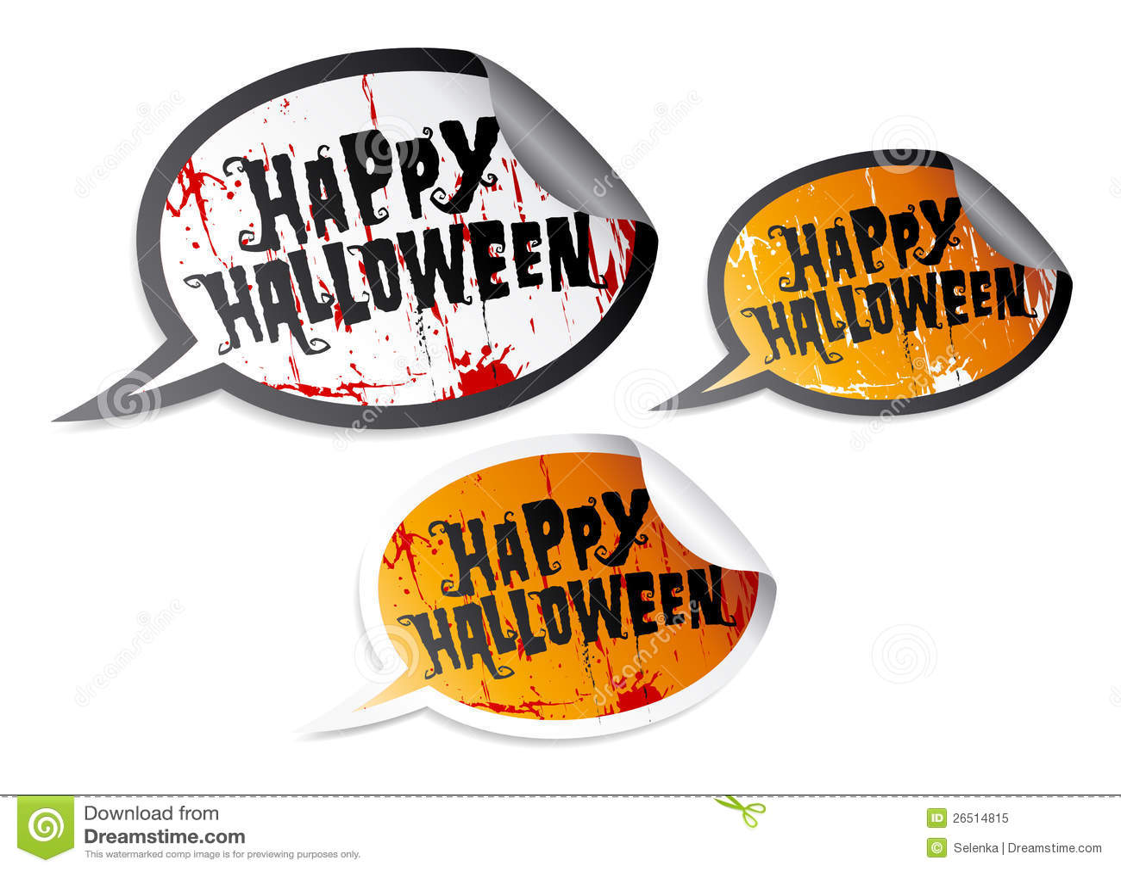 Happy Halloween stickers. Royalty-Free Stock Photo