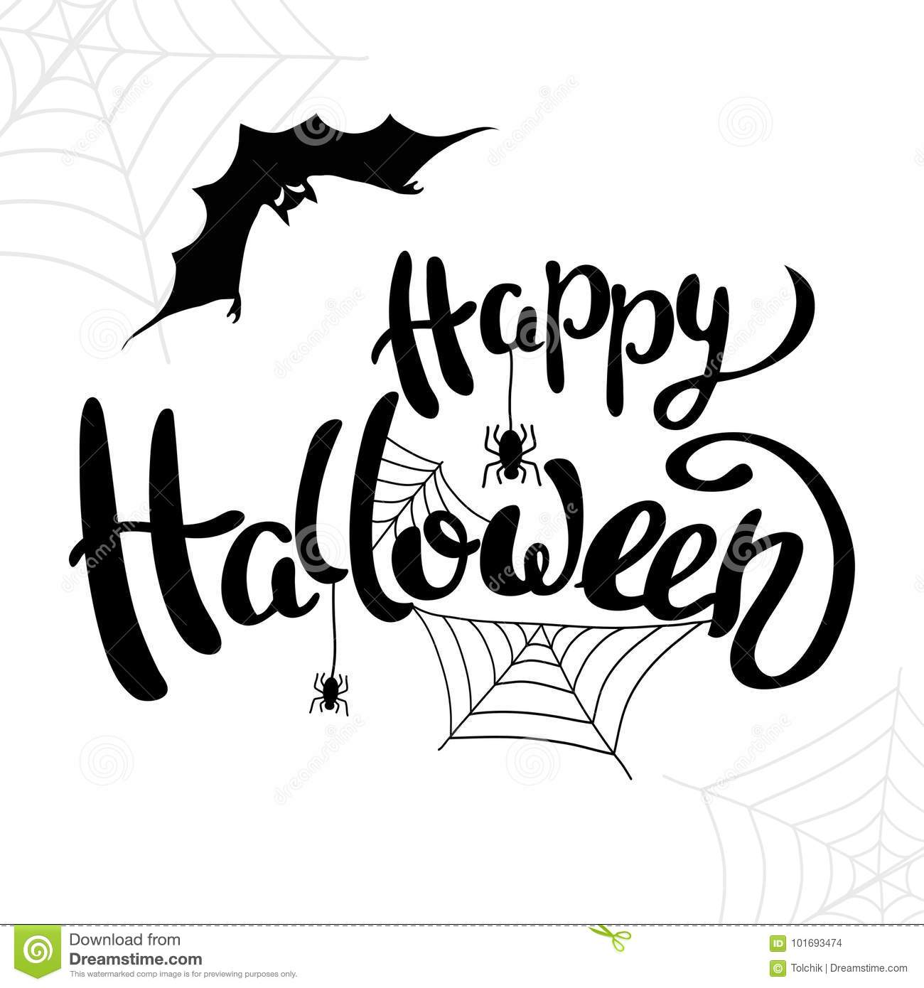 download happy halloween template for banner or poster vector stock vector illustration of freehand