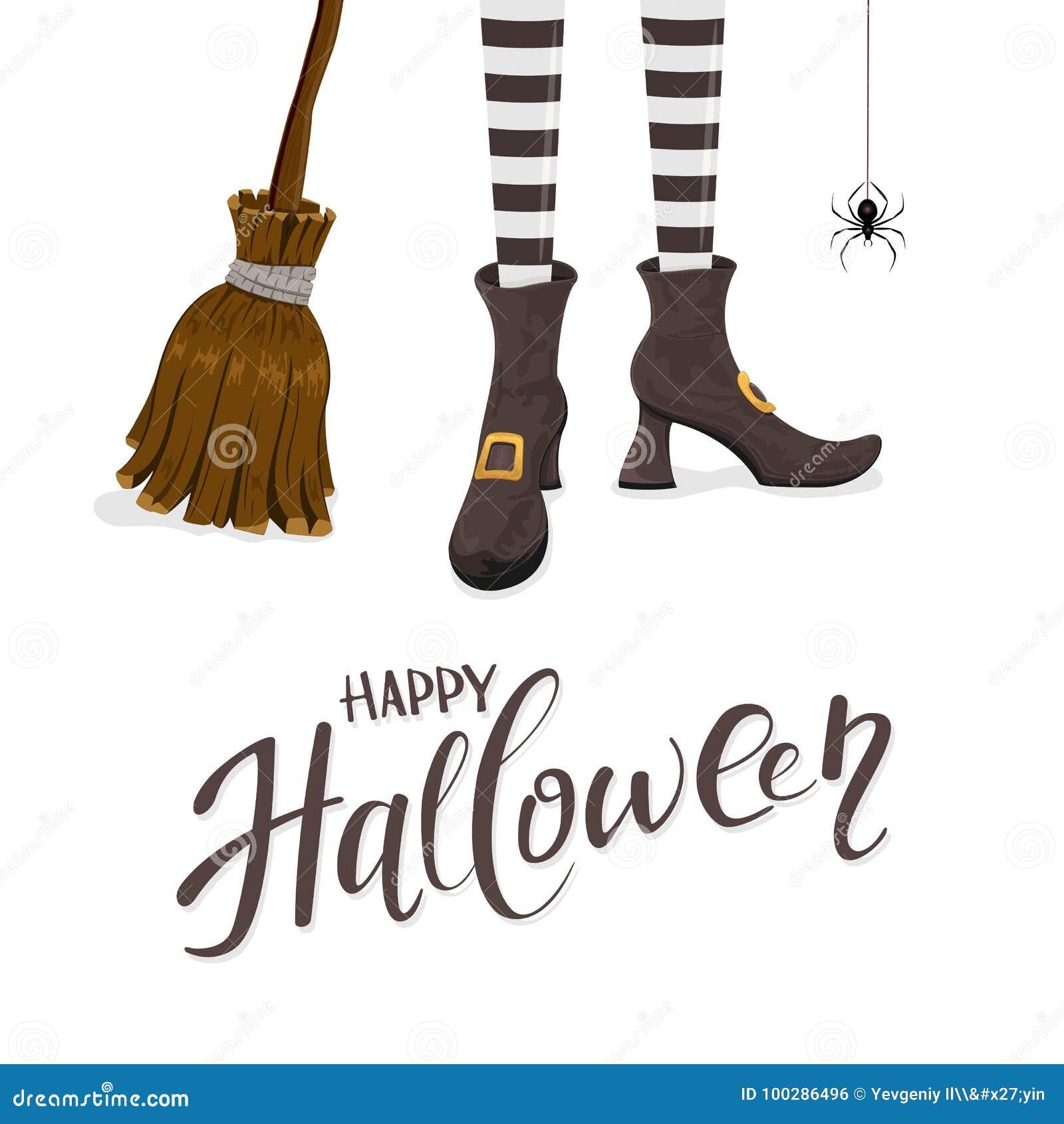 background broom halloween happy