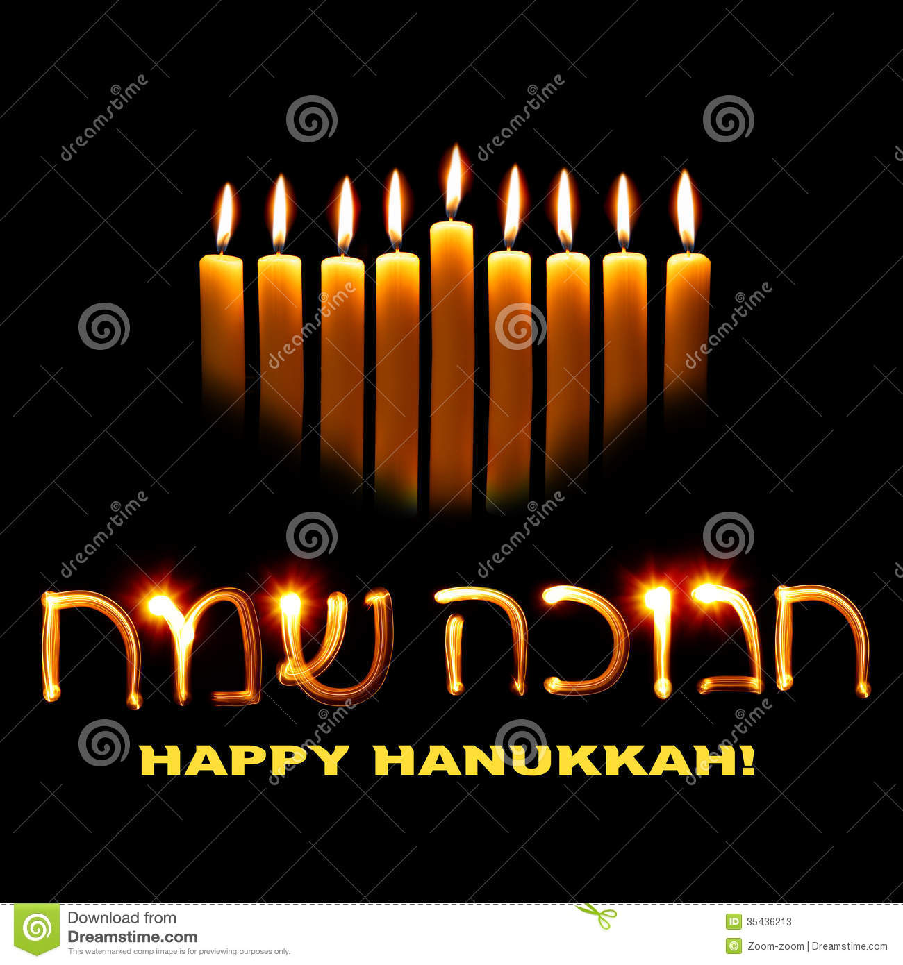 Happy hanukkah stock illustration illustration of candleholder candles and wishes happy hanukkah in hebrew m4hsunfo