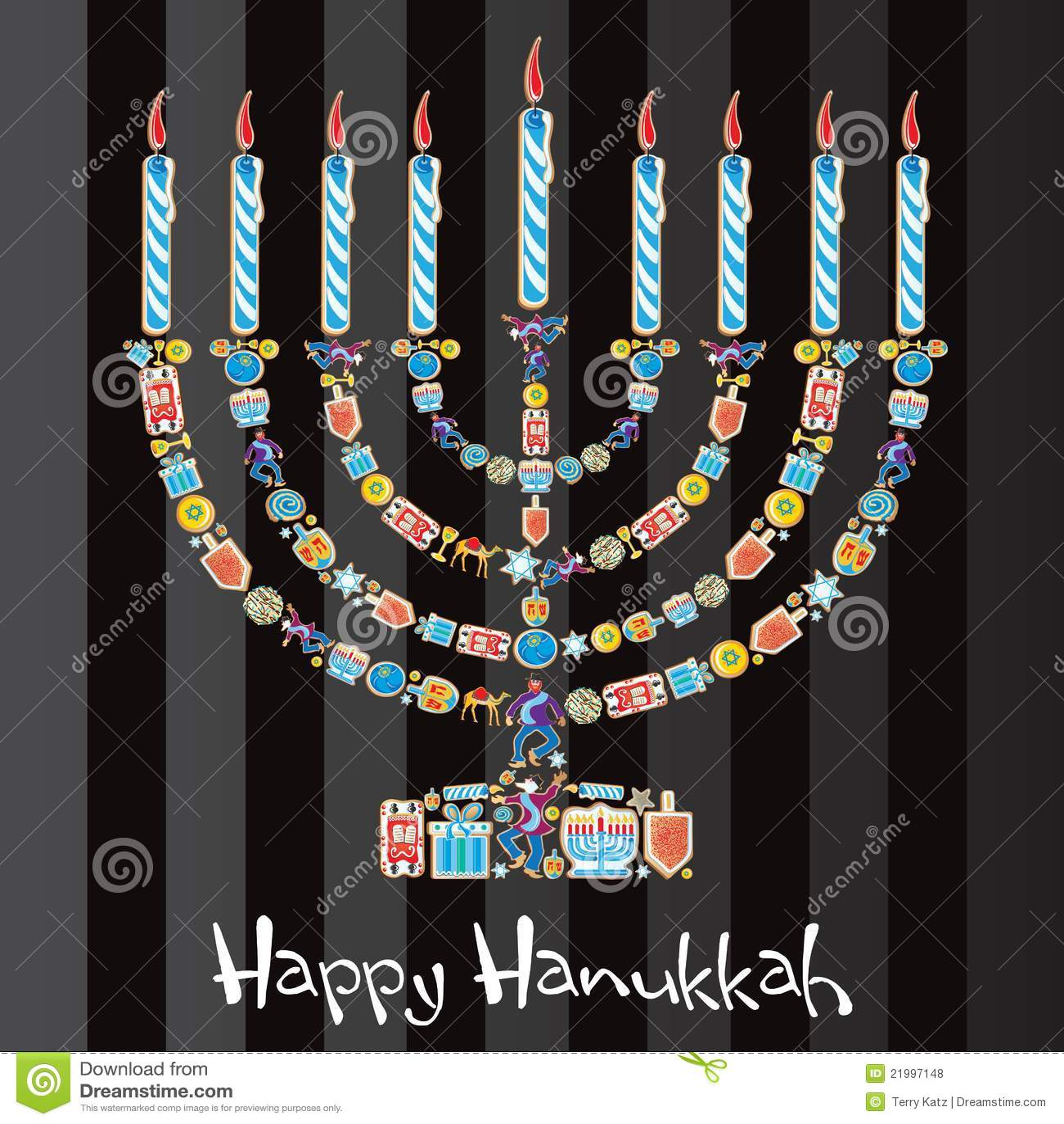 Happy Hanukkah Cookie Menorah