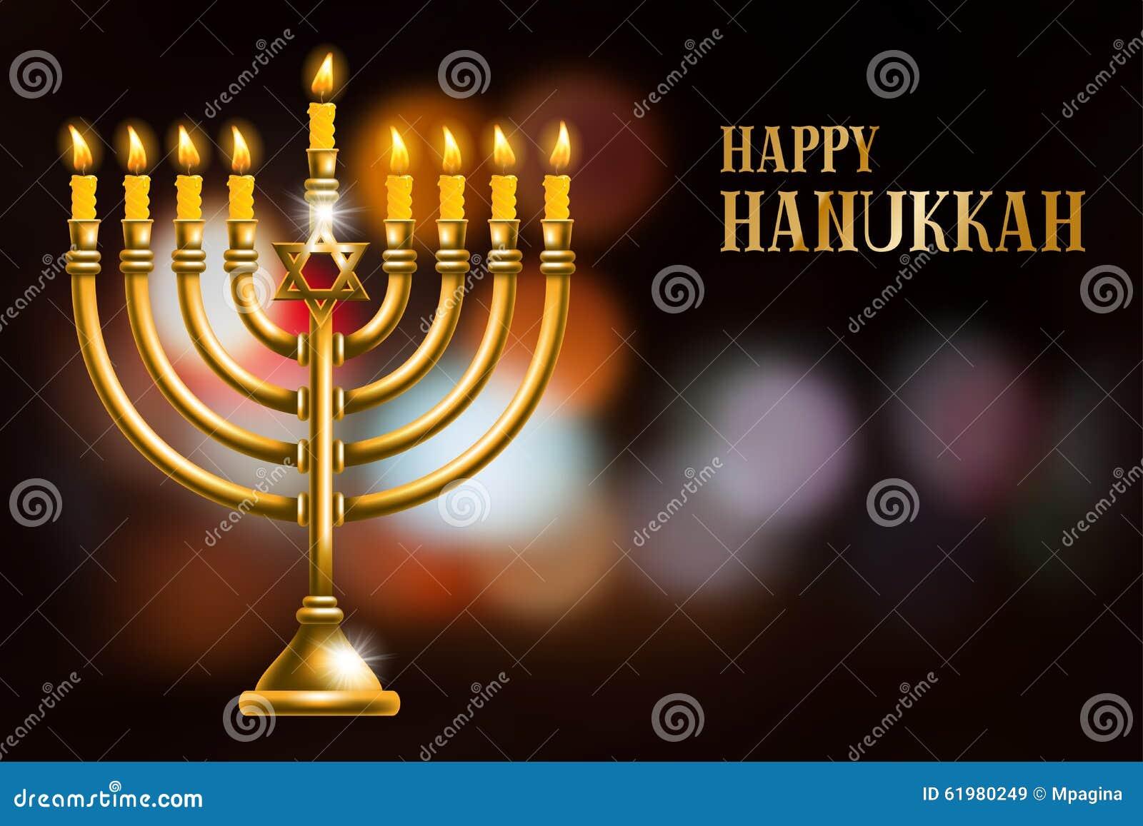 Hanukkah Greeting Cards >> Happy Hanukkah Stock Vector - Image: 61980249