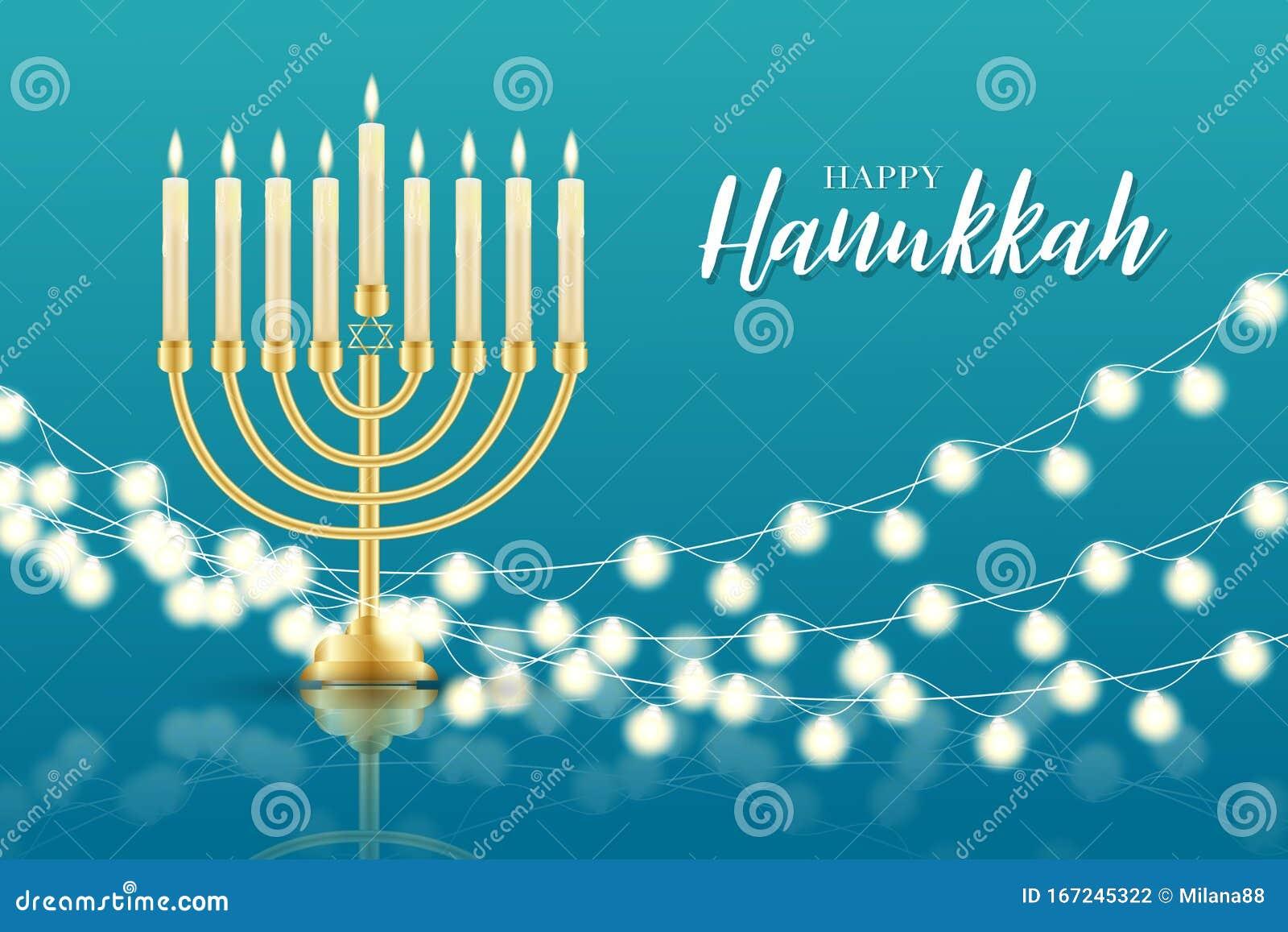 Happy Hanukkah Feriado Judaico Tradicional Conceito De Design De Banner Ou Wallpaper Religiao Judaica Decor Com Homens Ilustracao Do Vetor Ilustracao De Hanukkah Feriado 167245322