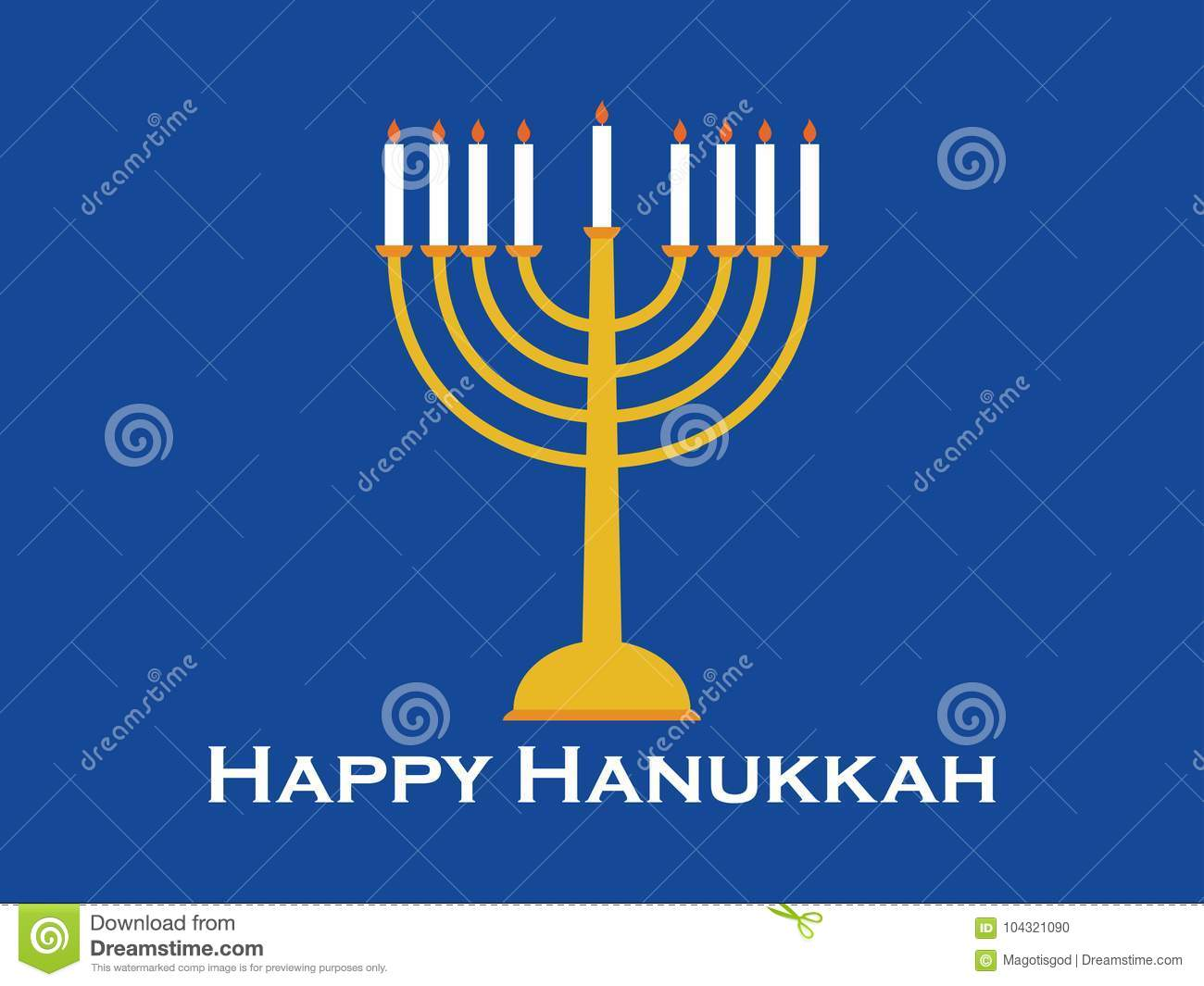Happy hanukkah greeting card candlestick with nine candles vector happy hanukkah greeting card candlestick with nine candles vector m4hsunfo