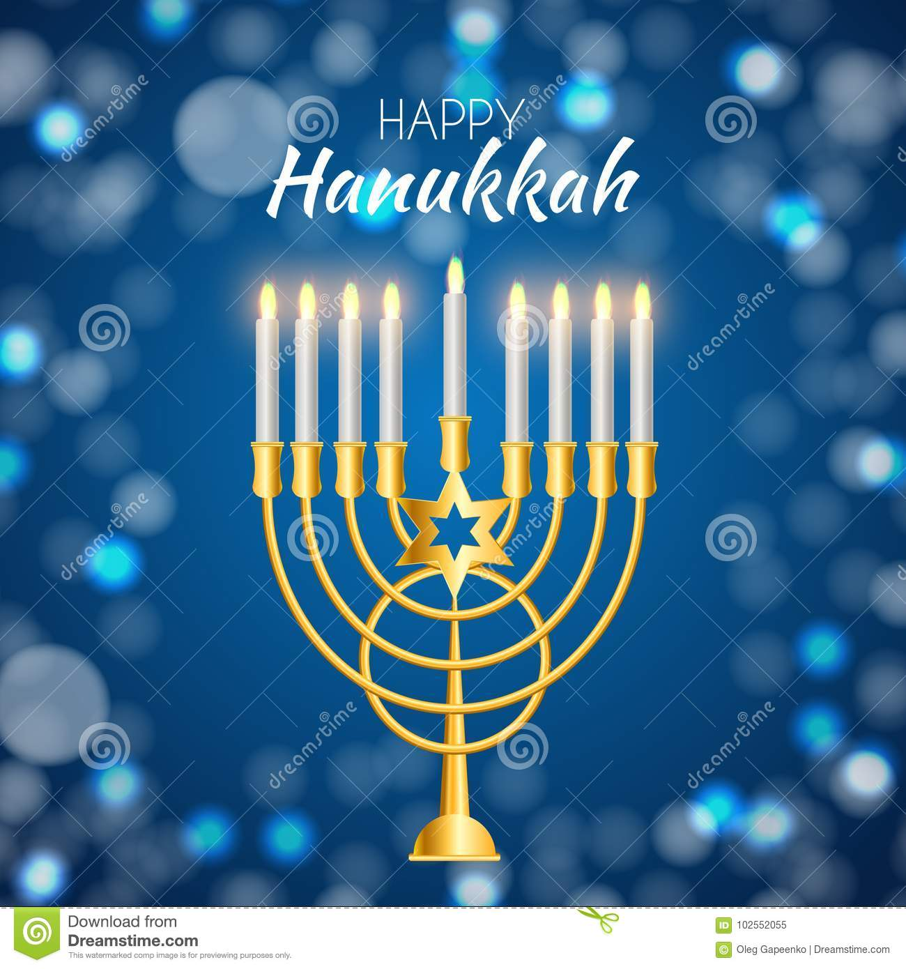 Happy Hanukkah, Jewish Holiday Background. Vector Illustration ...