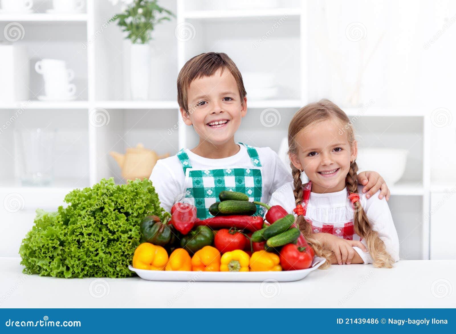 Happy Kid Eating Healthy