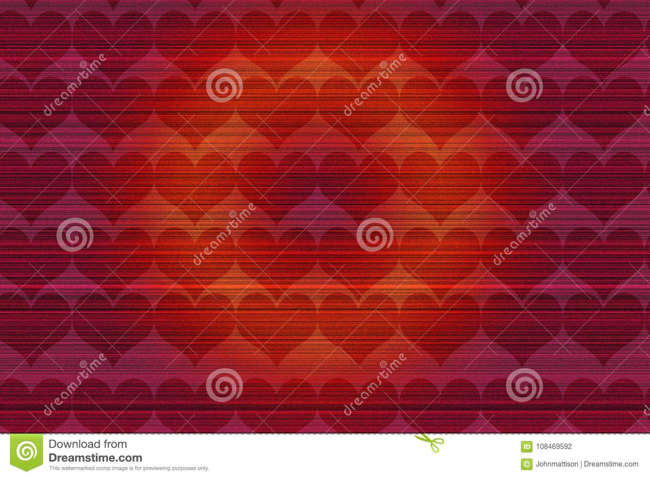 Happy Heart Valentine Day Red Background Stock Illustration
