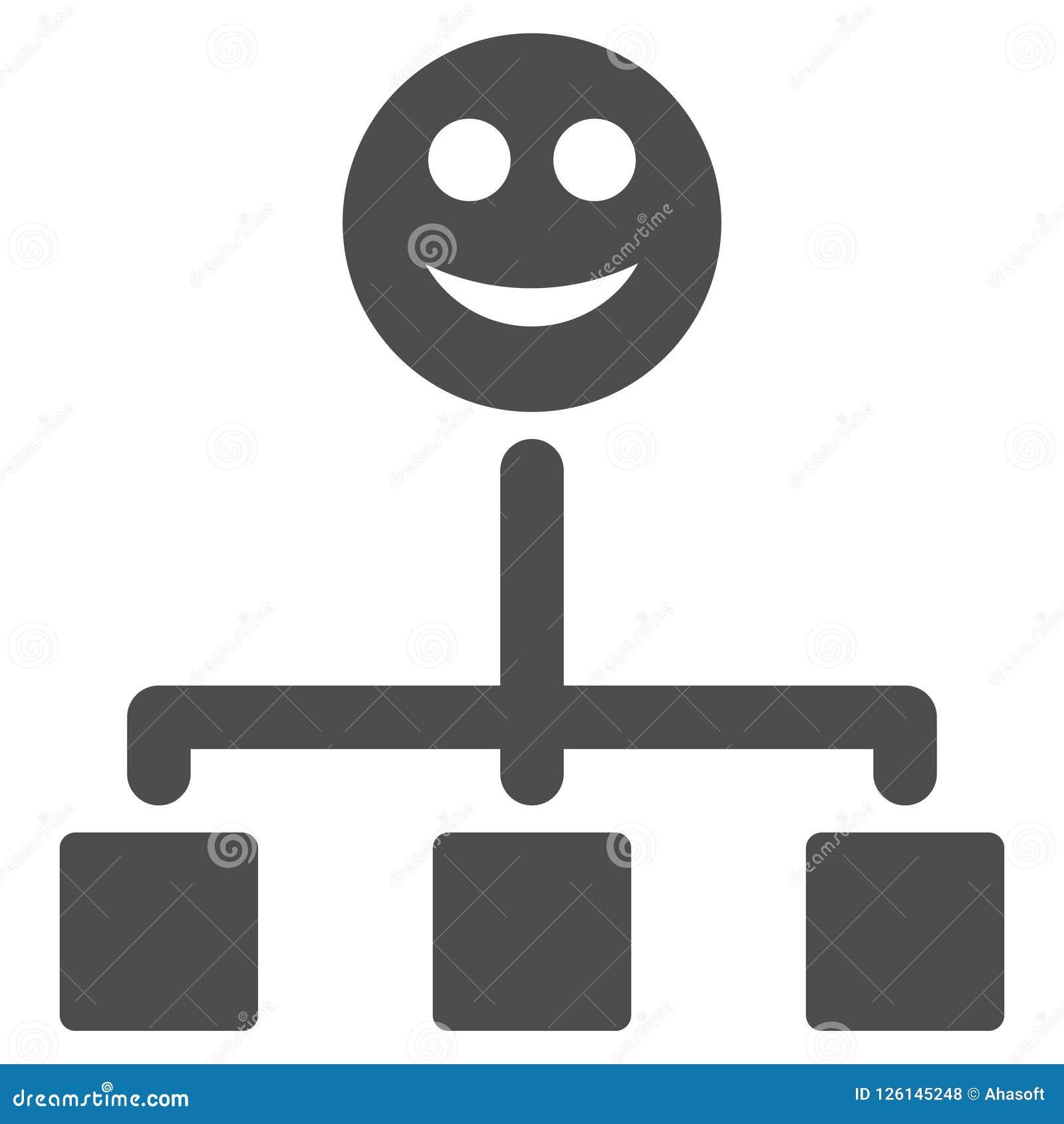 Happy Hierarchy Flat Icon