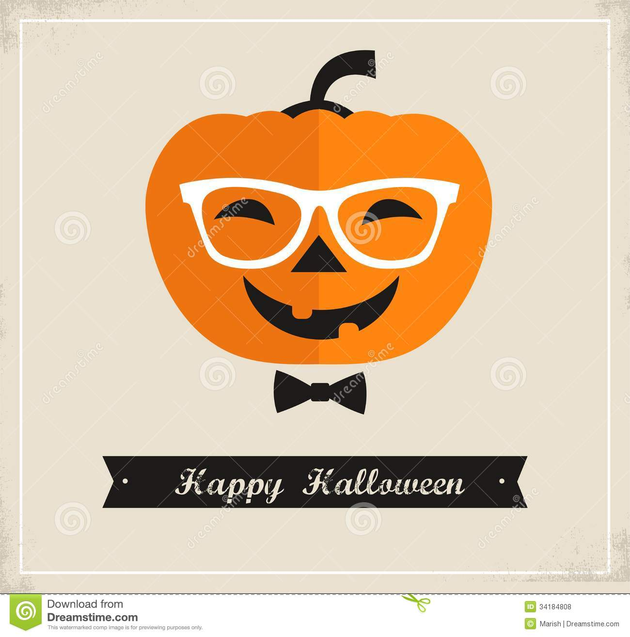 Happy hipster halloween stock vector illustration of halloween happy hipster halloween kristyandbryce Images
