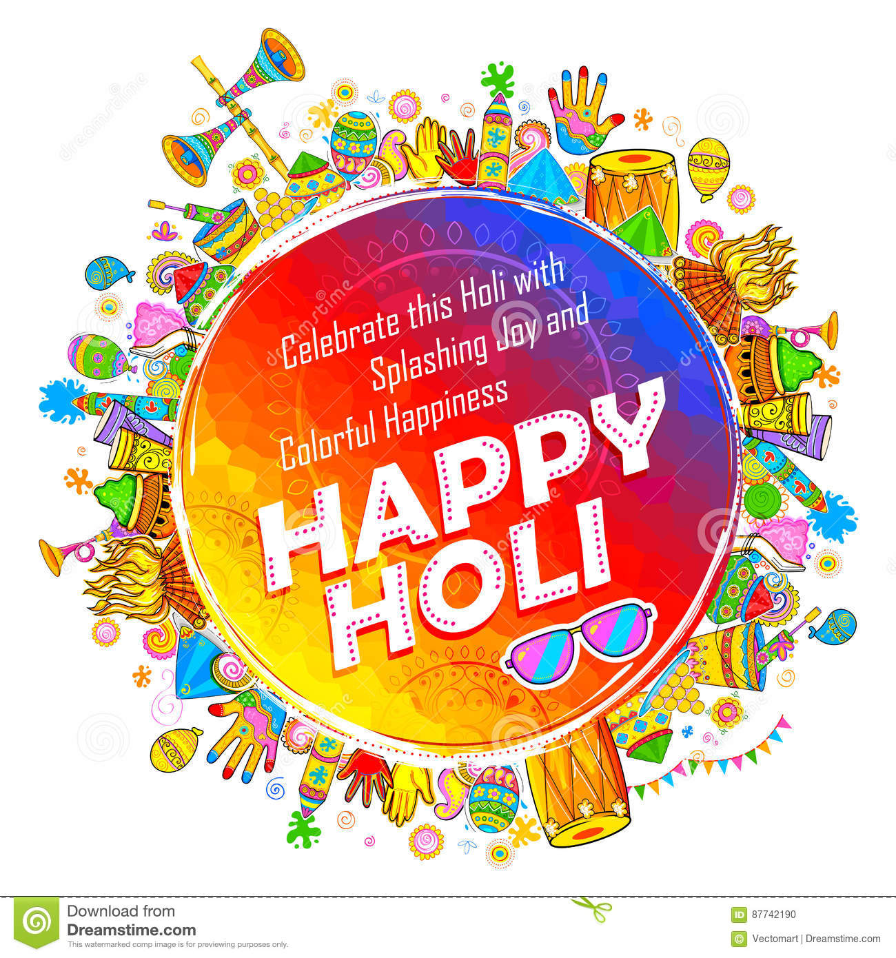 Happy holi background for festival of colors celebration greetings happy holi background for festival of colors celebration greetings kristyandbryce Image collections