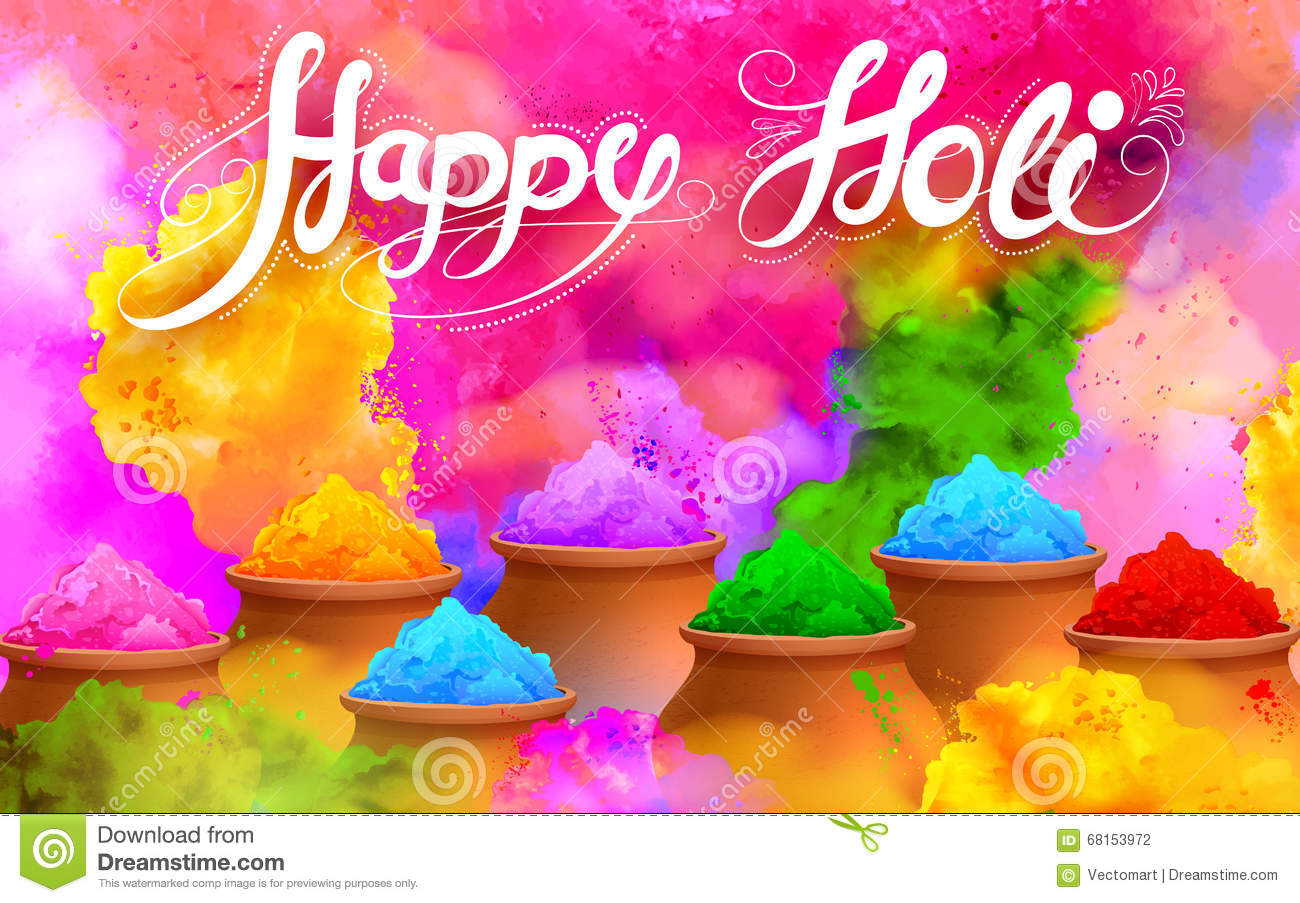 Happy Holi Background stock vector. Illustration of ...