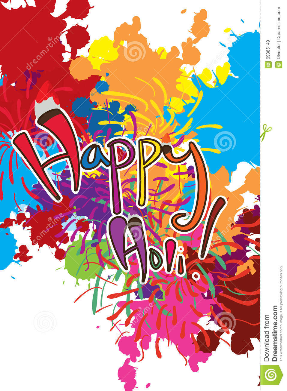 Happy holi paint colorful background stock photo image for Happy color spray paint price