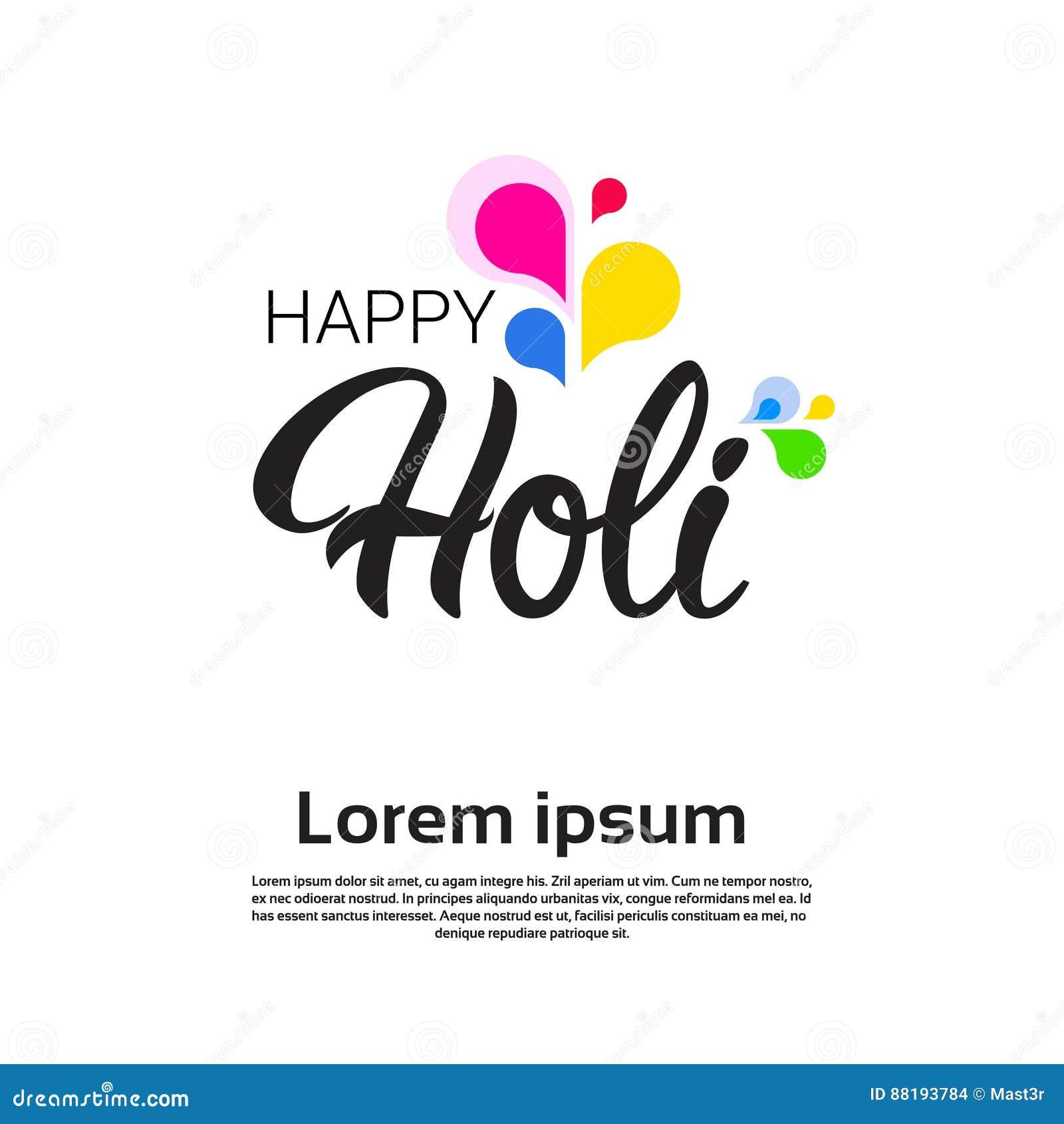 Happy Holi Religious India Holiday Traditional Celebration Greeting