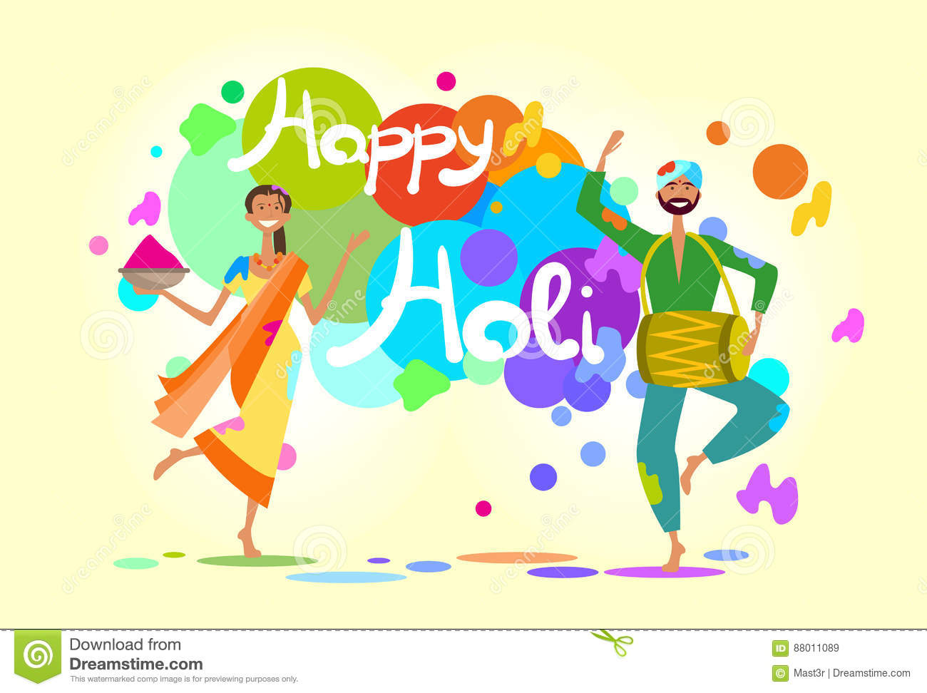 Happy holi religious india holiday traditional celebration greeting download happy holi religious india holiday traditional celebration greeting cart stock vector illustration of hinduism m4hsunfo
