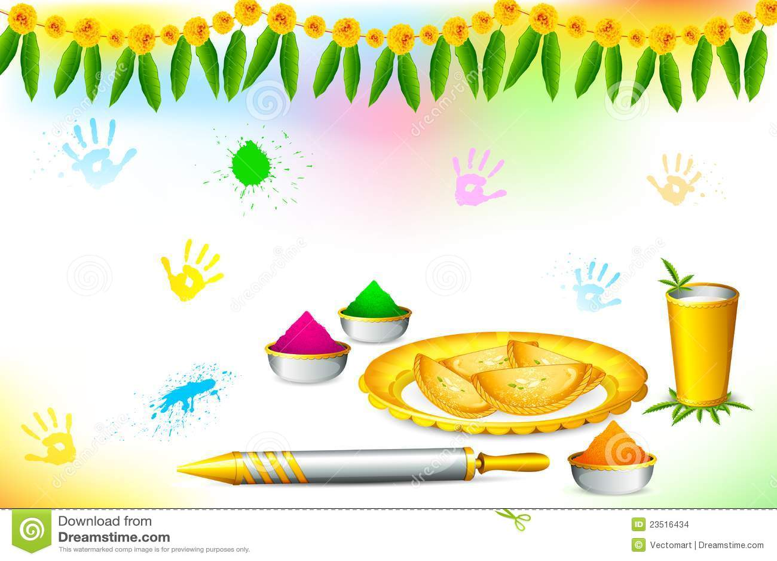 happy holi wallpaper stock vector. illustration of artistic - 23516434