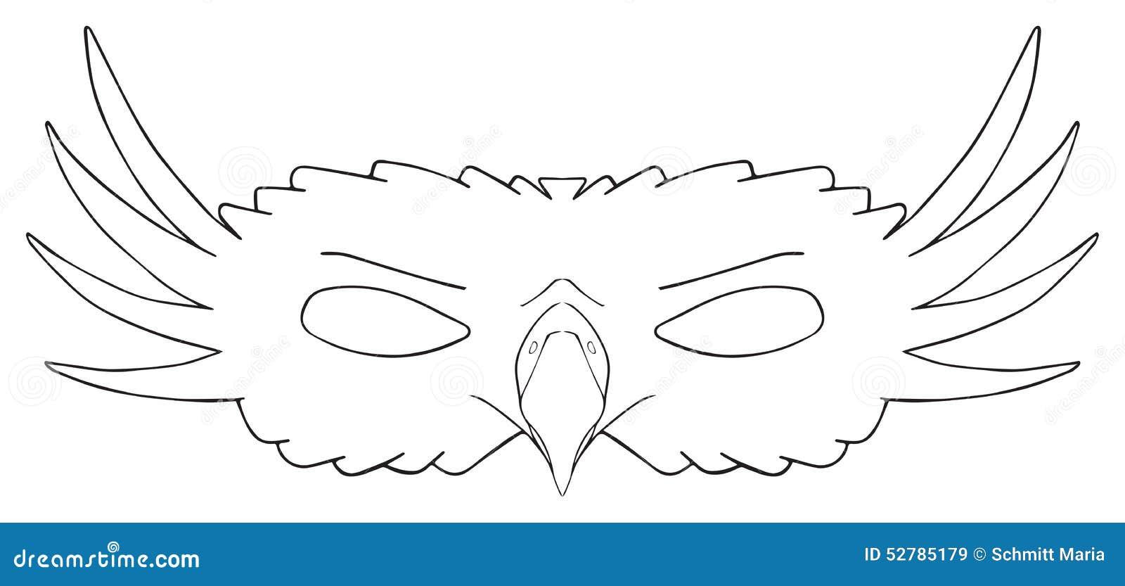 Happy Holiday Mask Of Royal Eagle Stock Illustration