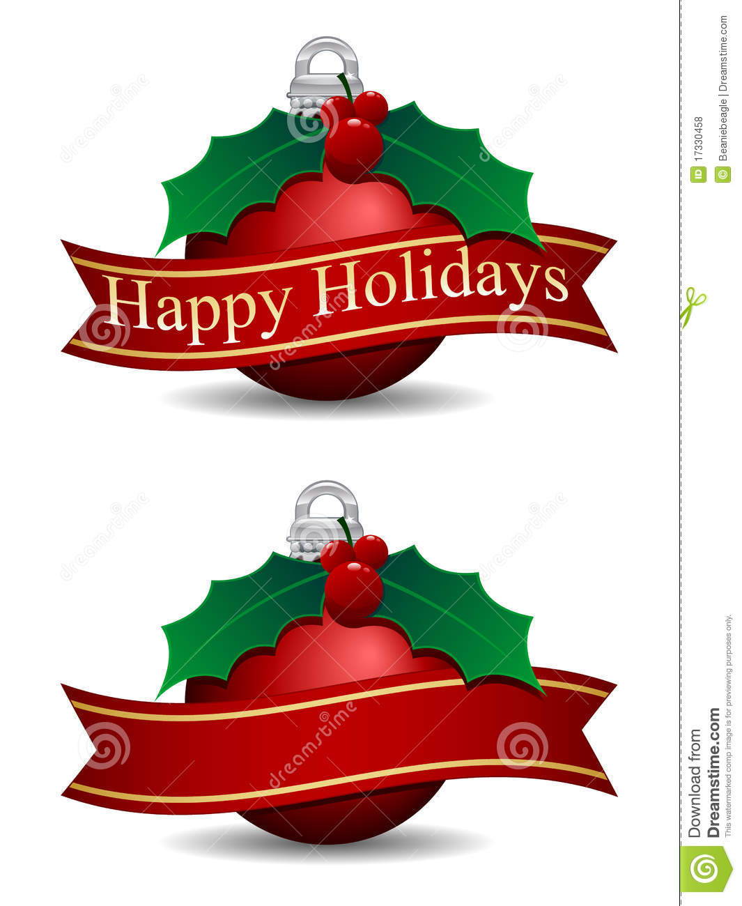 Download Happy Holidays stock vector. Illustration of blank, icons - 17330458