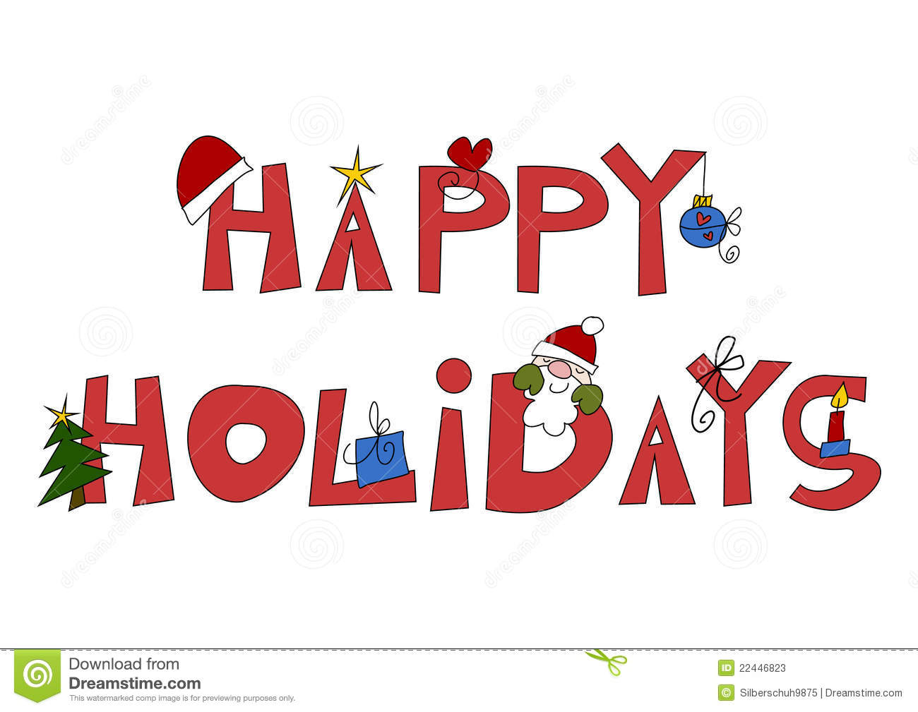 Happy Holidays Clip Art Signatures