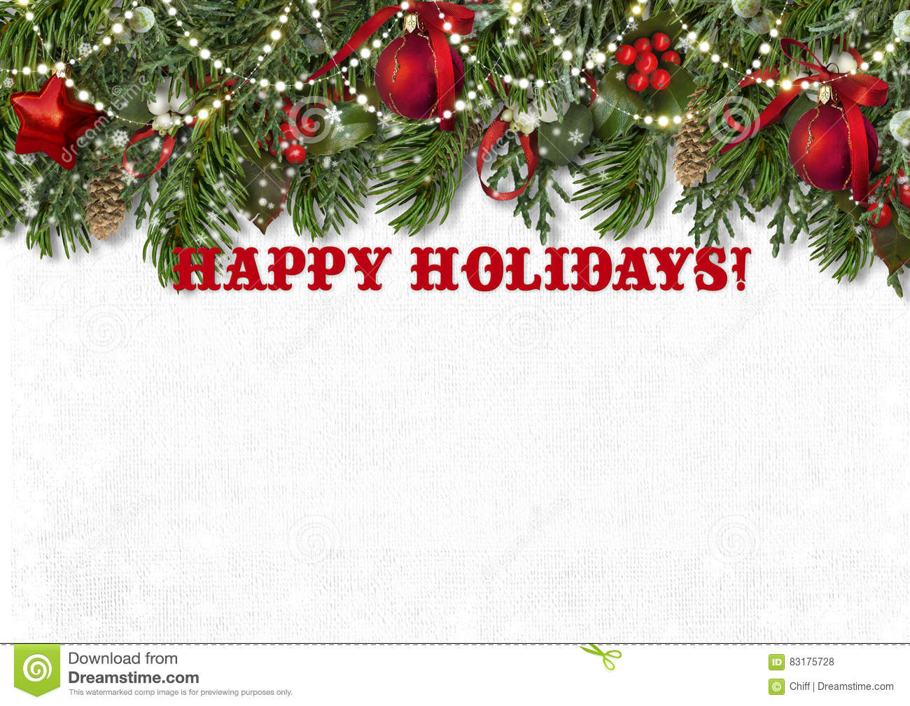 Happy Holidays Background With Greetings Stock Illustration ...