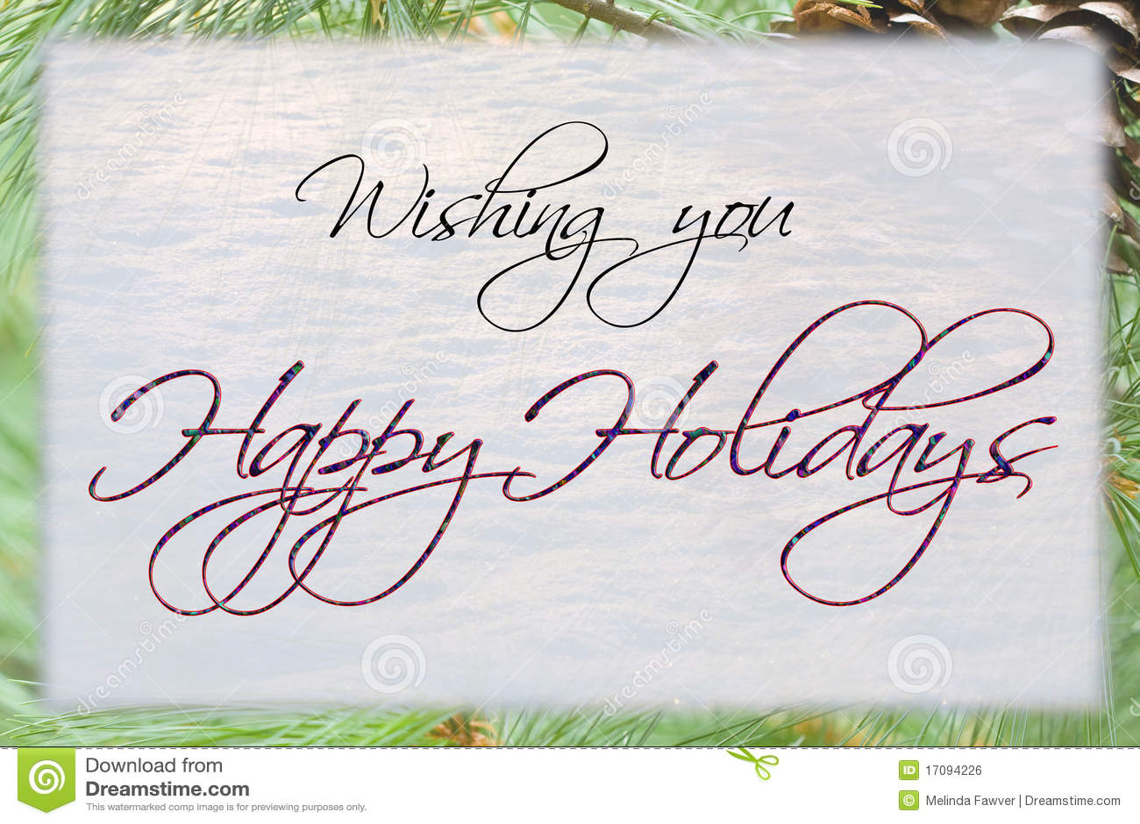 happy holidays card stock illustration illustration of snow 17094226