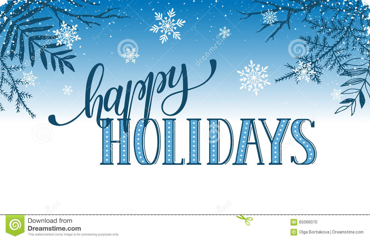 happy holidays card stock vector  illustration of modern