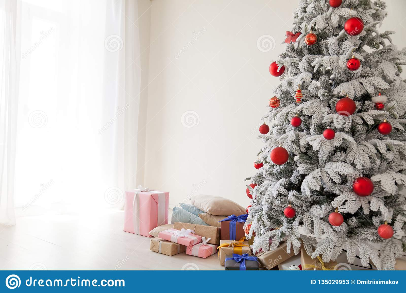 happy holidays christmas new year tree presents stock image image of realism bright 135029953 https www dreamstime com happy holidays christmas new year tree presents image135029953
