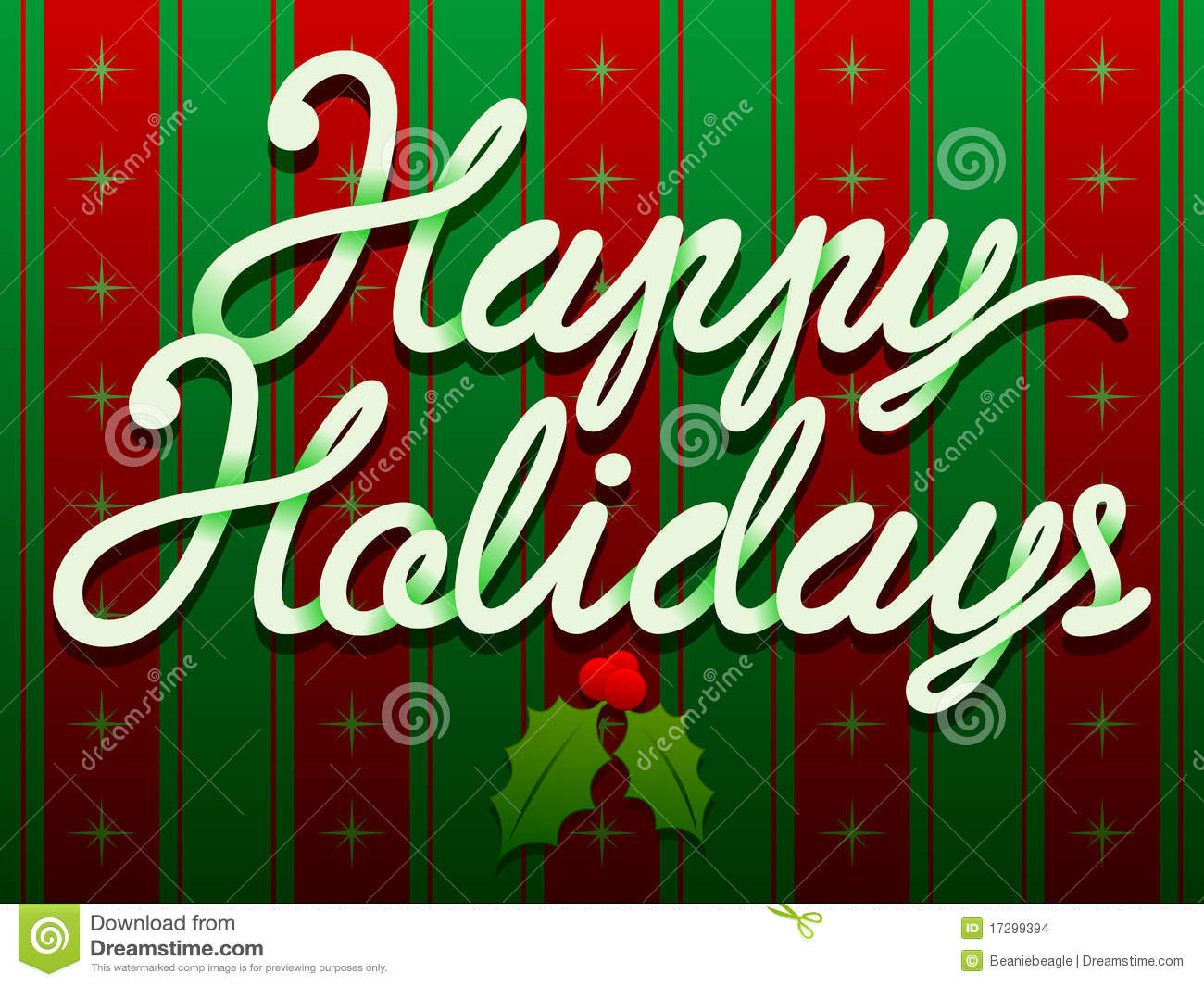 Happy Holidays Christmas Text Stock Images Image 17299394