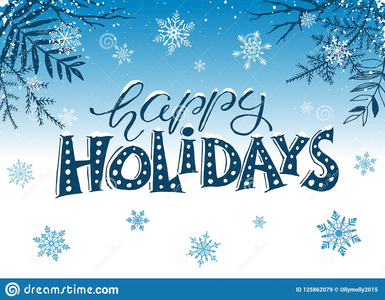 happy holidays greeting card stock vector
