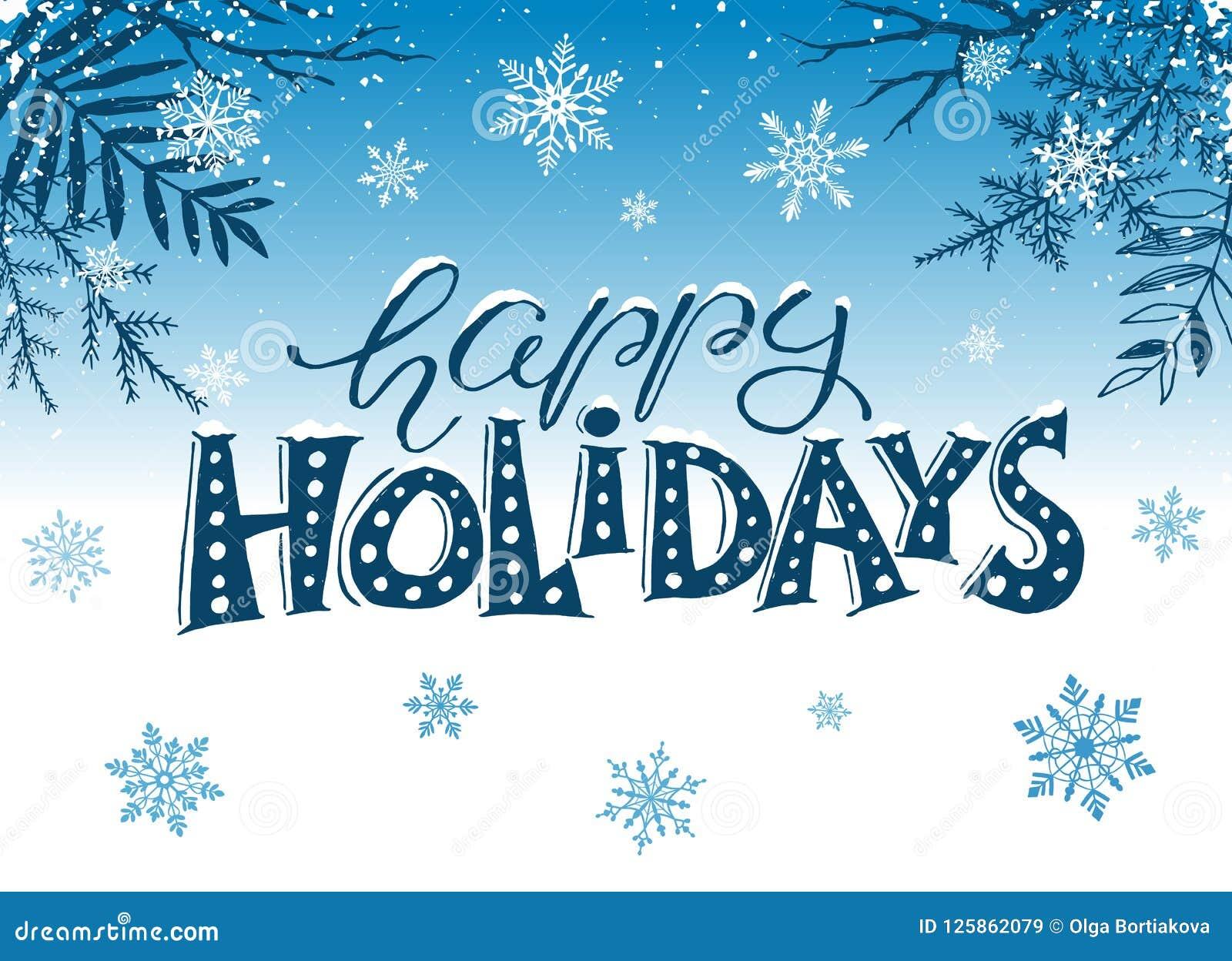 Happy Holidays Greeting Card Stock Vector Illustration Of Greeting Festa 125862079