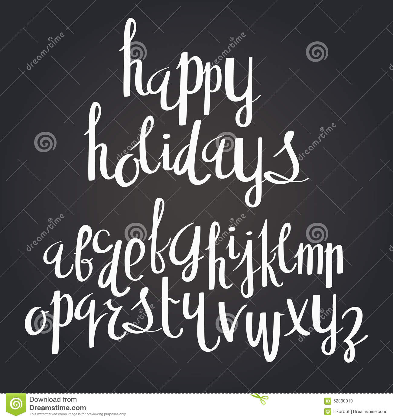 Happy holidays handwritten calligraphy quote font