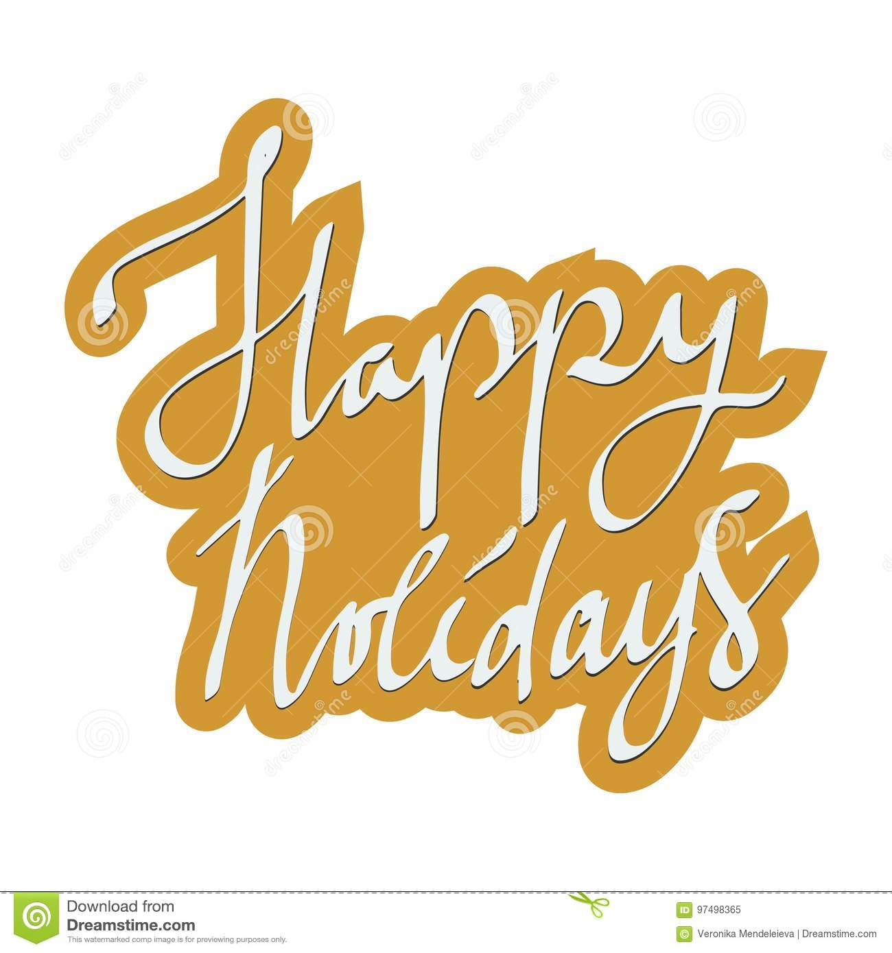 picture about Happy Holidays Printable Card identified as Pleased Holiday seasons. Trip Card Lettering. Typographic Print
