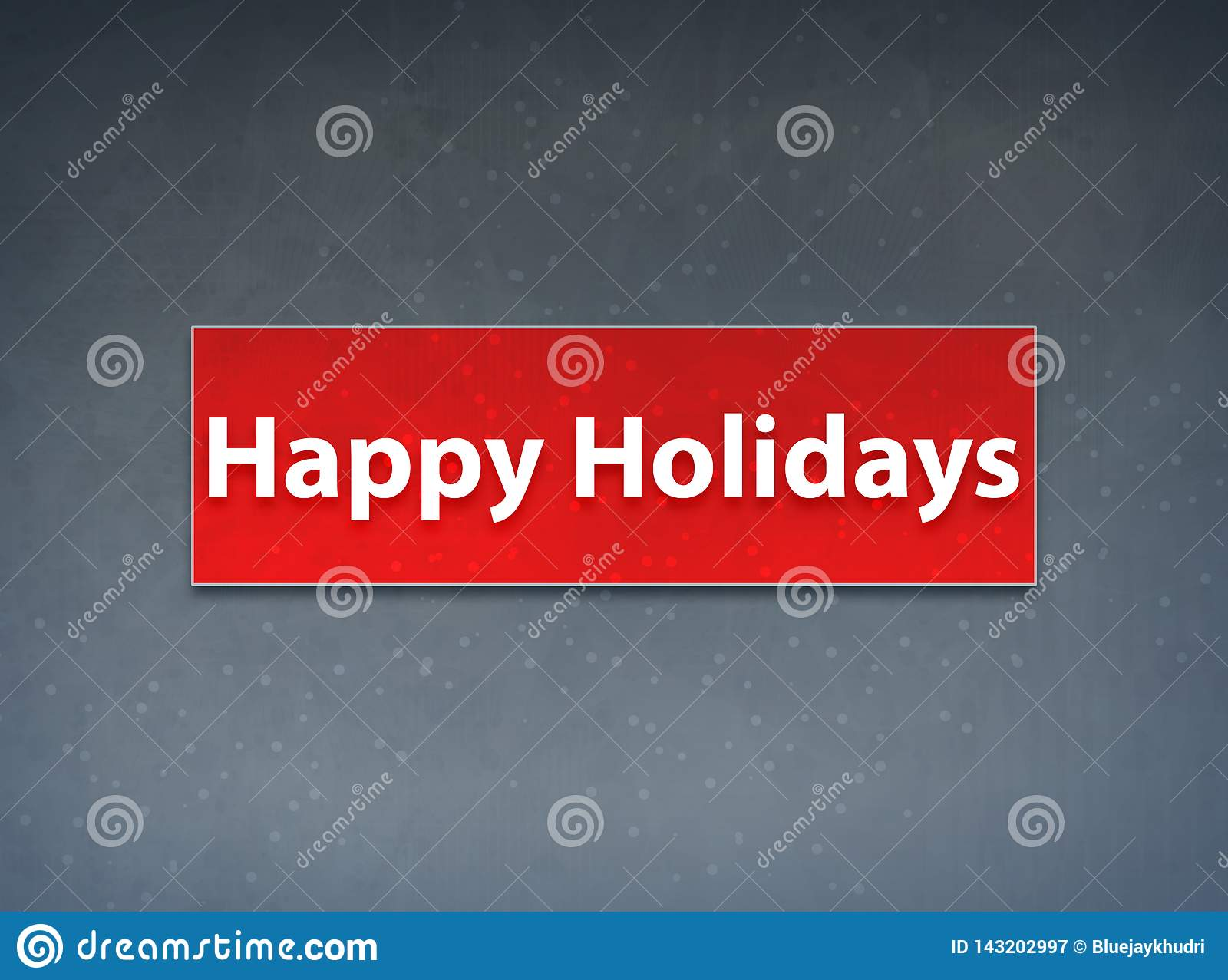 Happy Holidays Red Banner Abstract Background