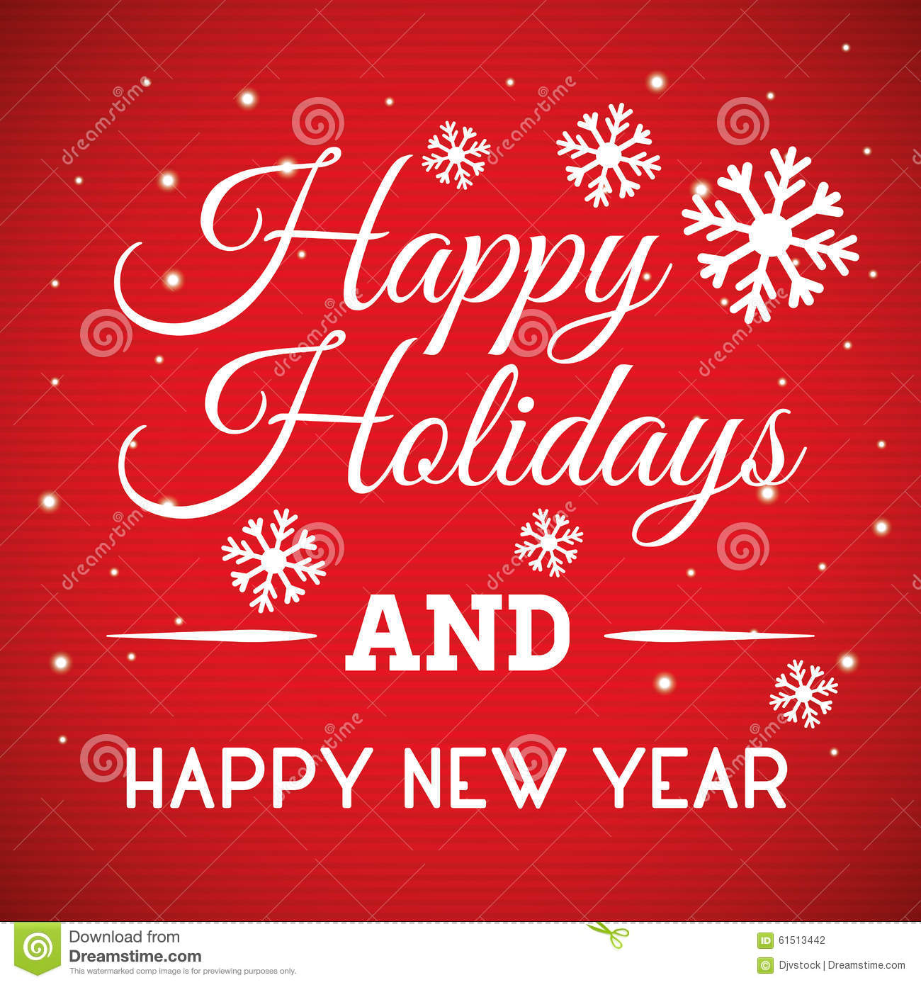 Happy Holidays And Merry Christmas Card Stock Vector - Image: 61513442