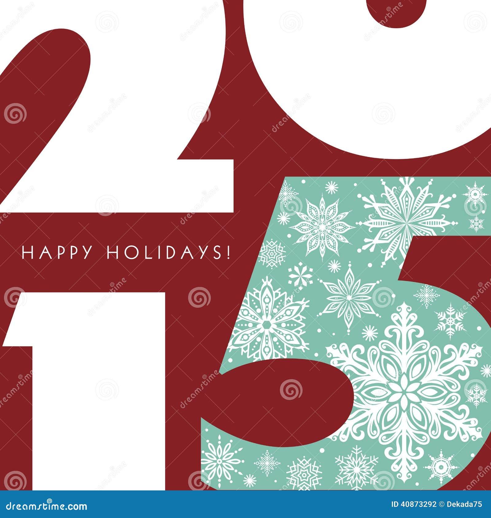 Download Happy Holidays 2015 stock illustration. Illustration of stylish - 40873292