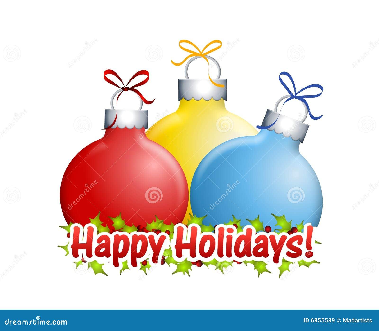happy holidays clip art
