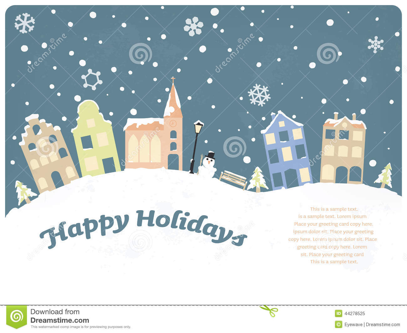 Happy holidays seasonal greeting card stock vector illustration of happy holidays seasonal greeting card m4hsunfo