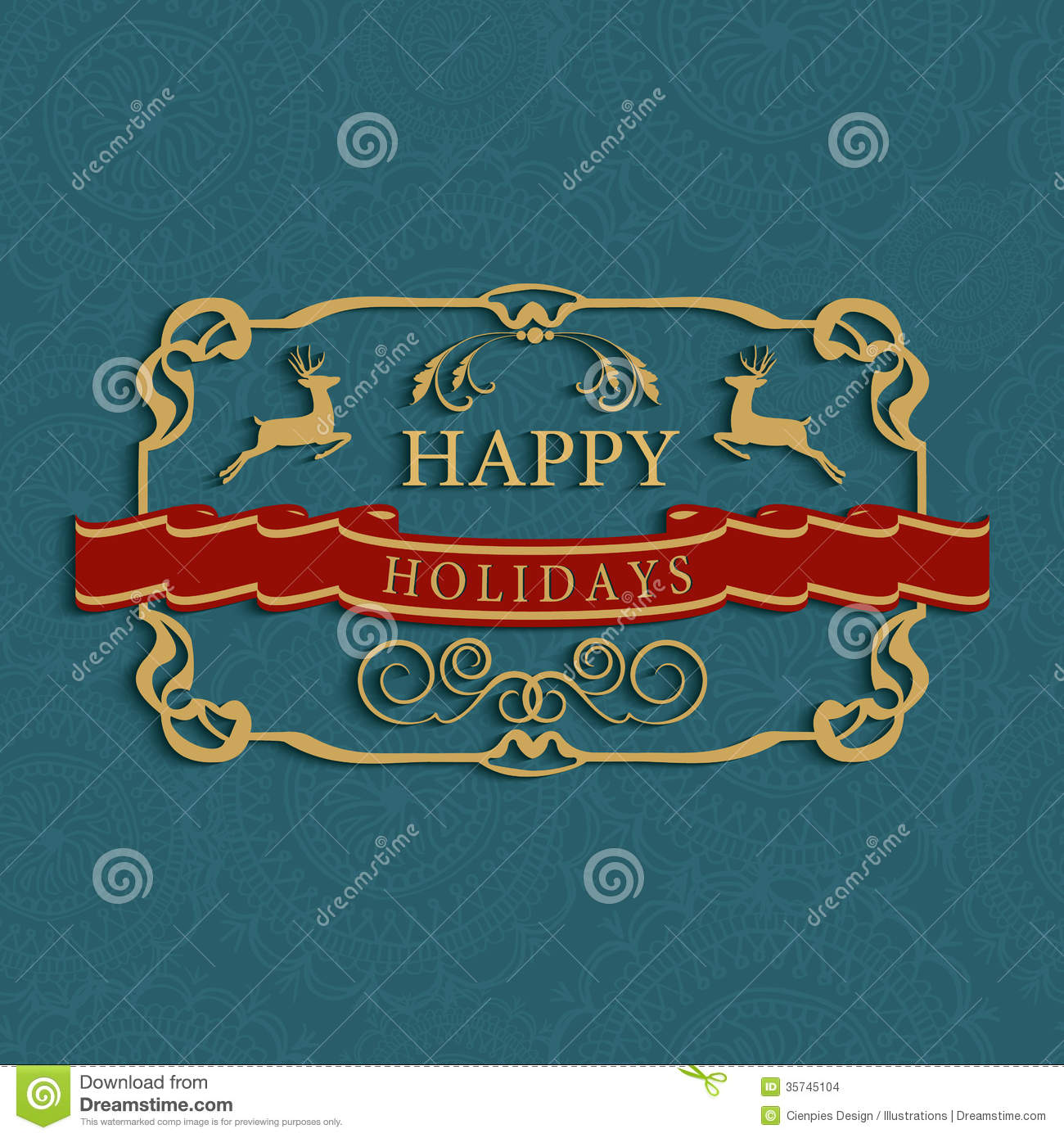 Happy holidays text greeting card stock vector illustration of happy holidays text greeting card kristyandbryce Gallery