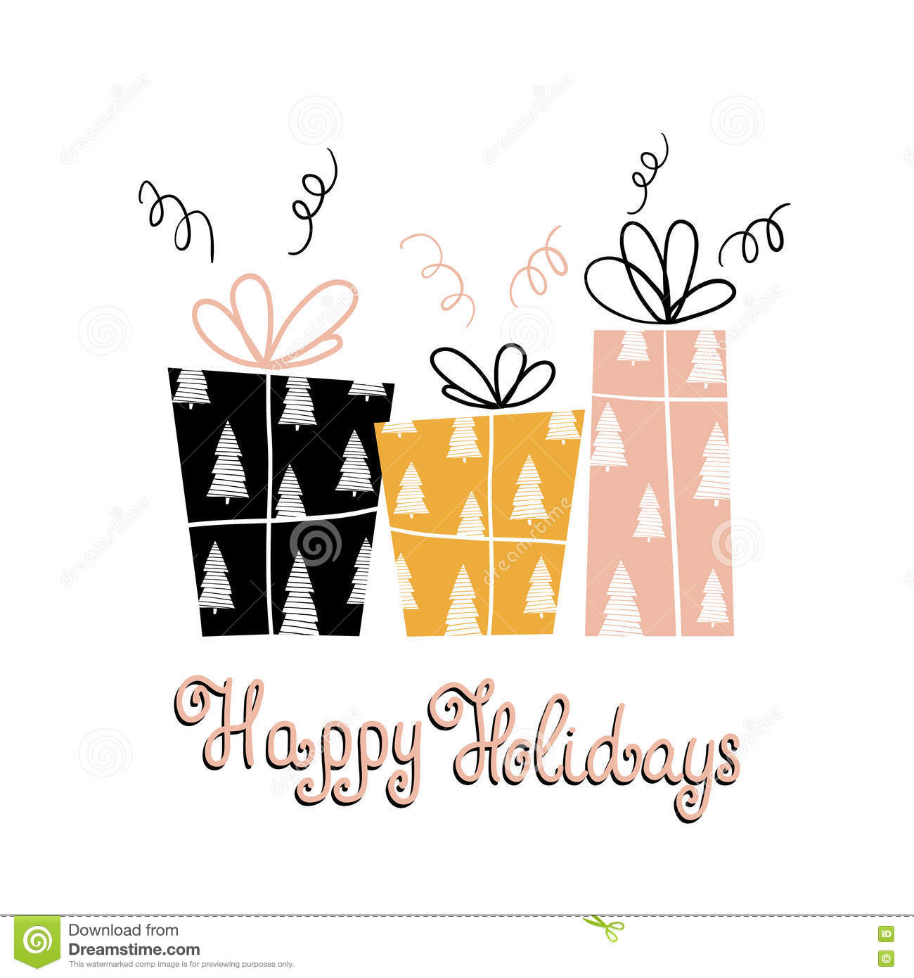 Happy Holidays- Unique Holiday Handwritten Lettering And