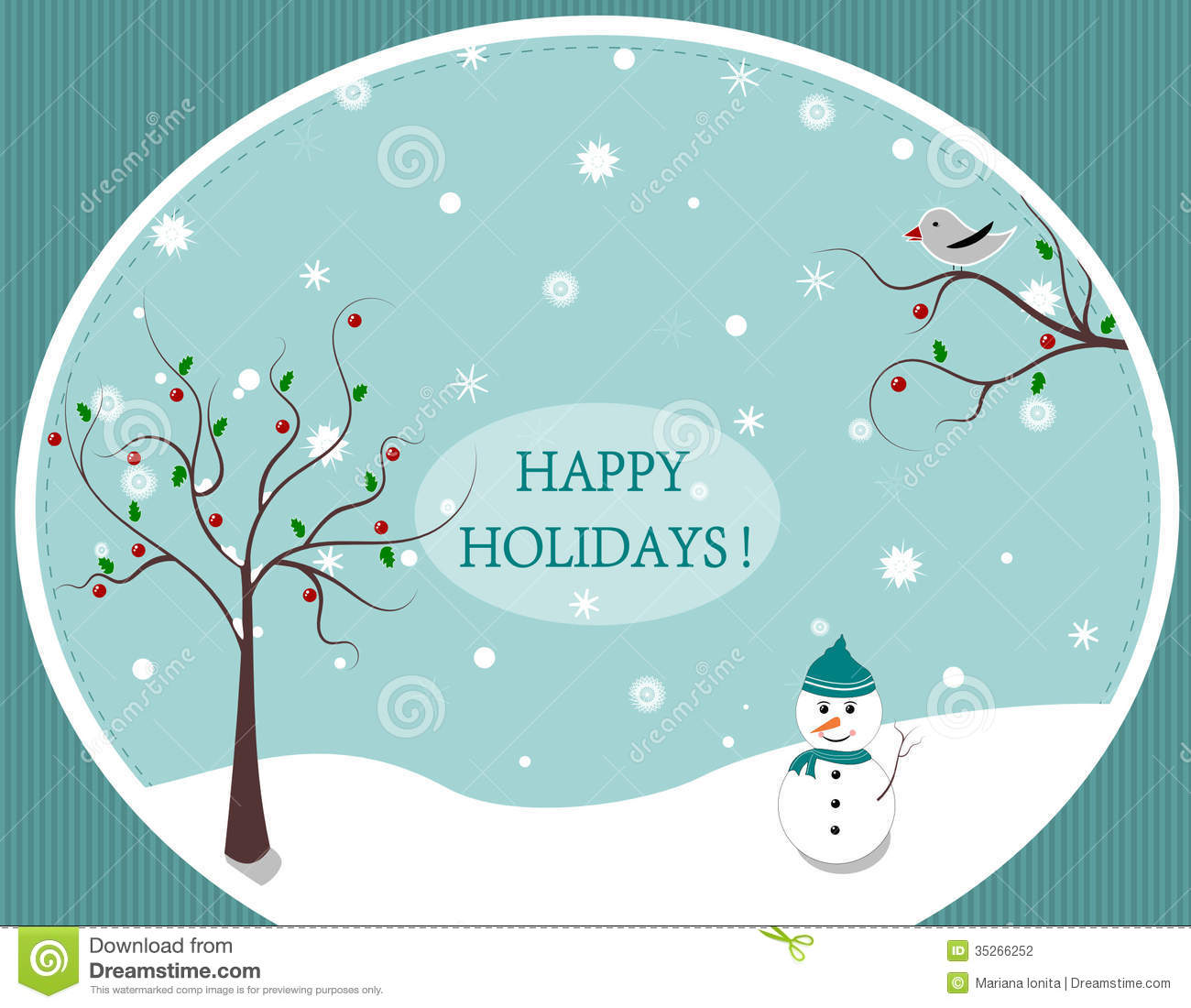 Happy Holidays Stock Illustration Illustration Of Happy 35266252
