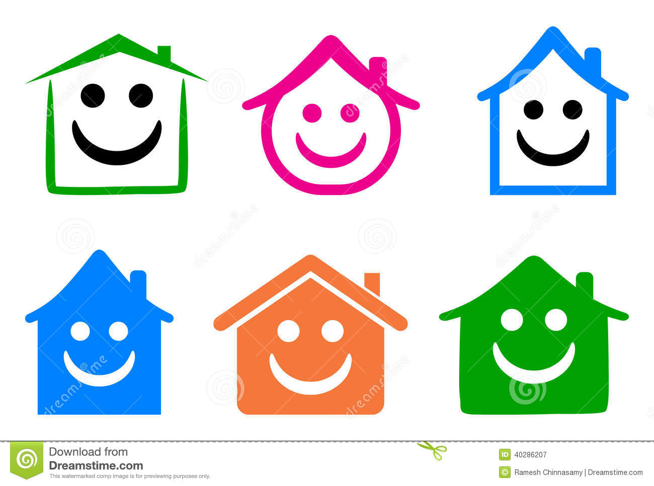 Happy Home Stock Vector - Image: 40286207 Simple Eye Clipart Black And White