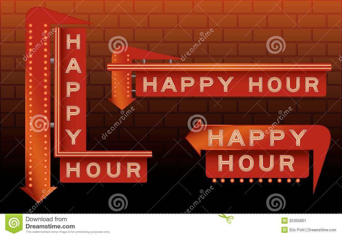 Download Happy Hour Bar Signs stock vector. Illustration of roadhouse - 25355801