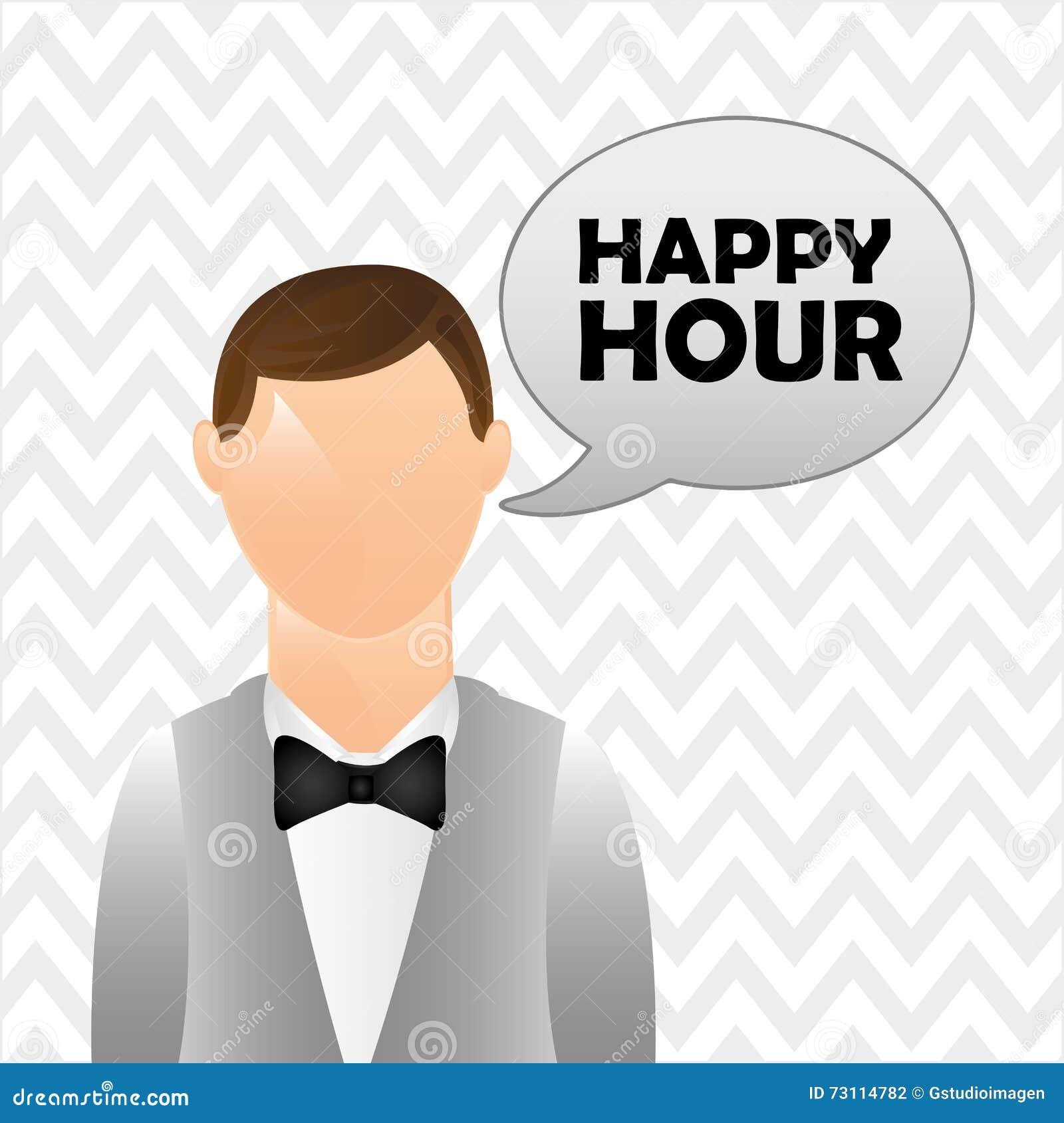 Happy Hour Design Royalty-Free Illustration