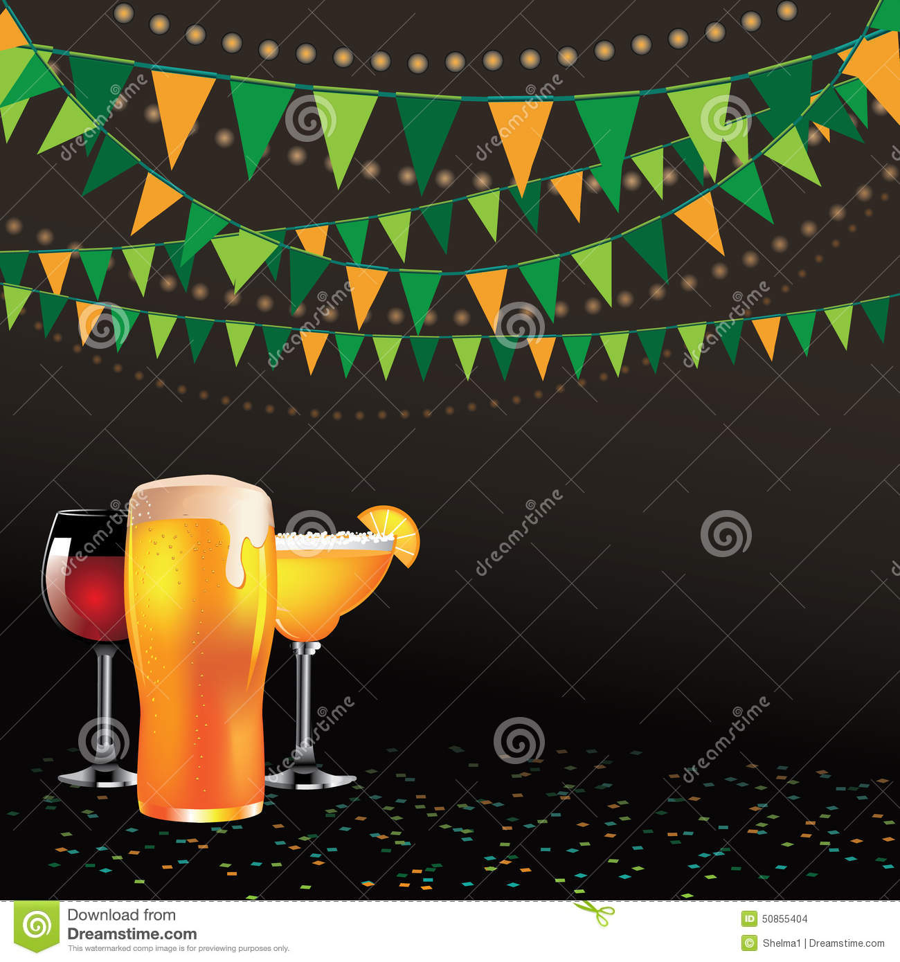 happy hour drinks bunting background isolated stock vector image happy hour drinks bunting background dark stock images