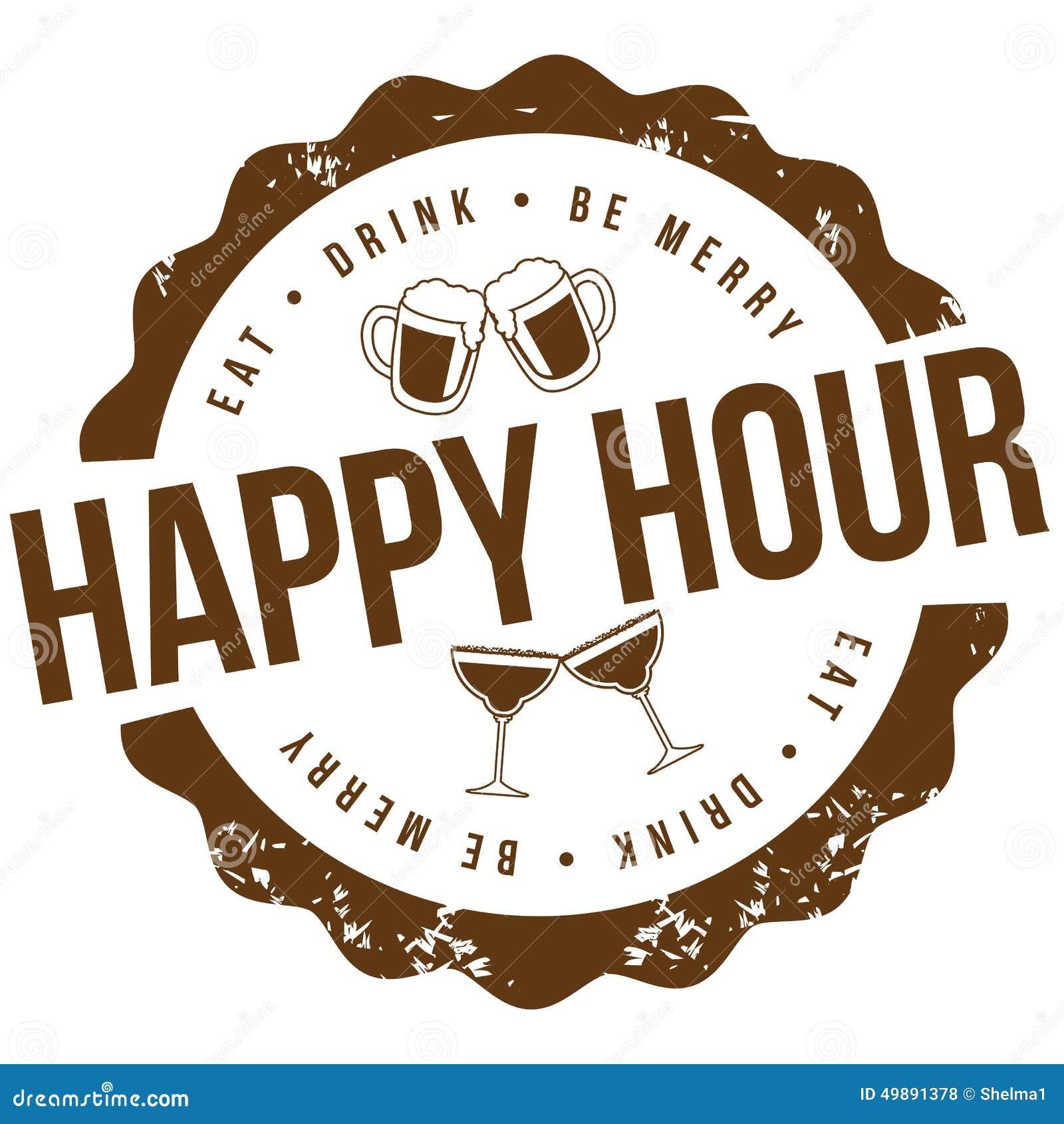 Happy hour stamp EPS 10 vector