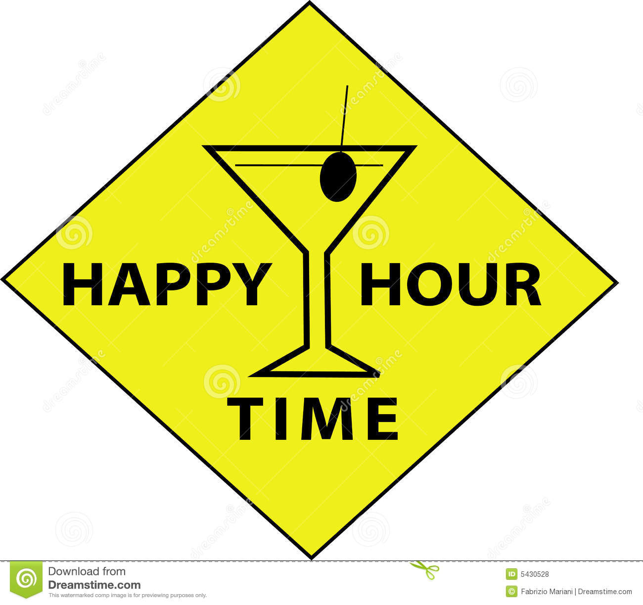 happy hour time sign stock vector illustration of funny