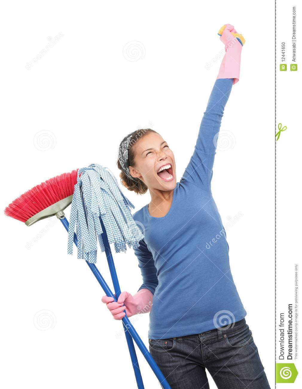 happy house cleaning woman stock photo image 12441650 garage sale clip art borders garage sale clip art free